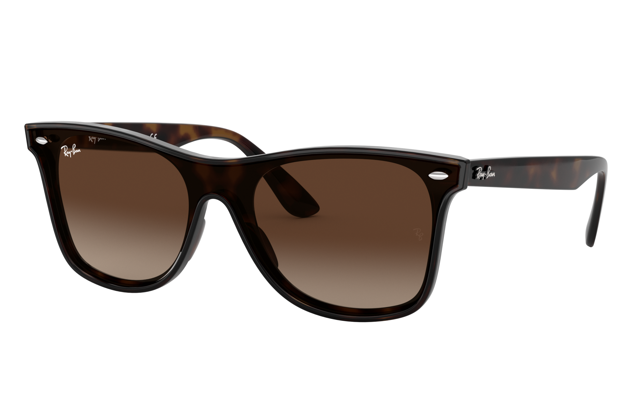 Ray-Ban Blaze Wayfarer Tortoise, Brown Lenses - RB4440N