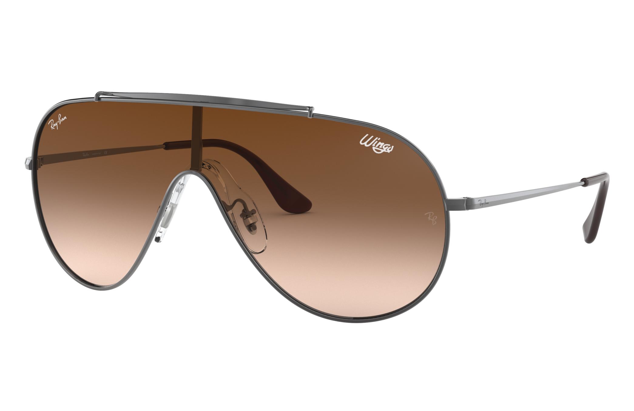 Ray-Ban Wings Gunmetal, Brown Lenses - RB3597