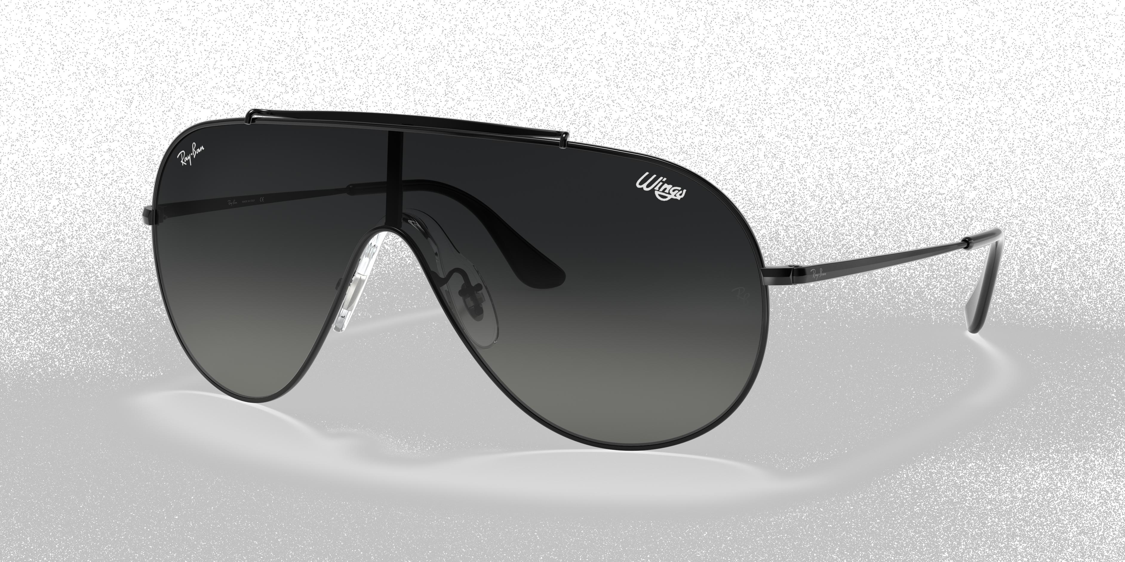 Ray-Ban Wings Black, Gray Lenses - RB3597