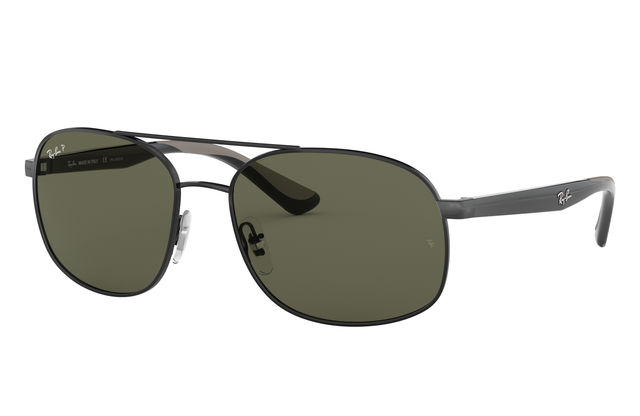 Ray-Ban Rb3593 Black, Polarized Green Lenses - RB3593