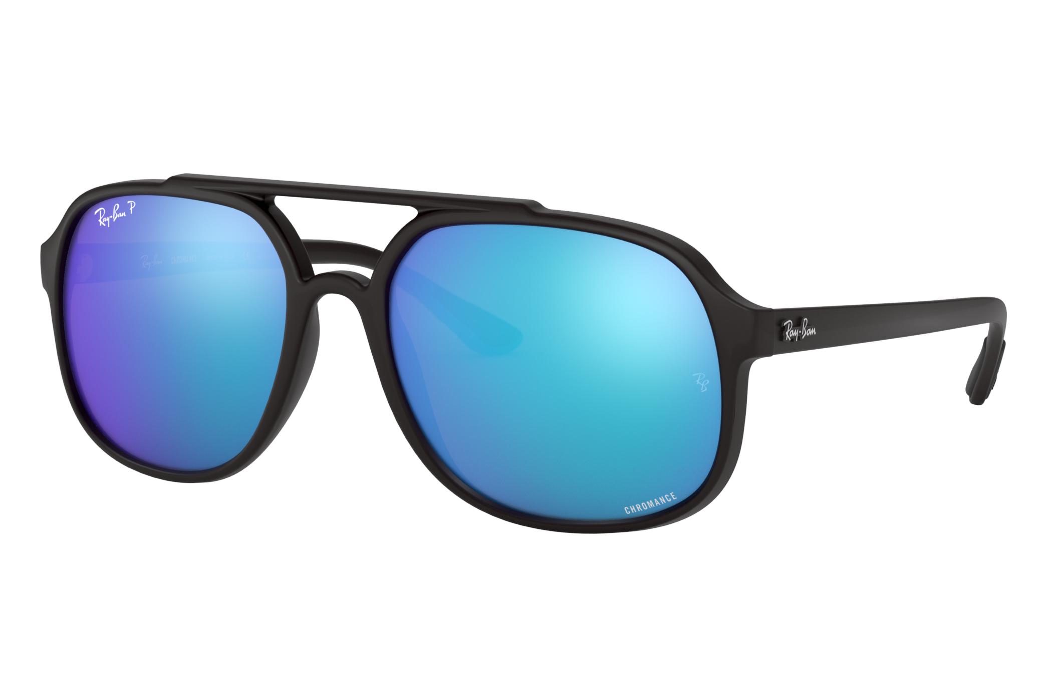 Ray-Ban Rb4312 Chromance Black, Polarized Blue Lenses - RB4312CH