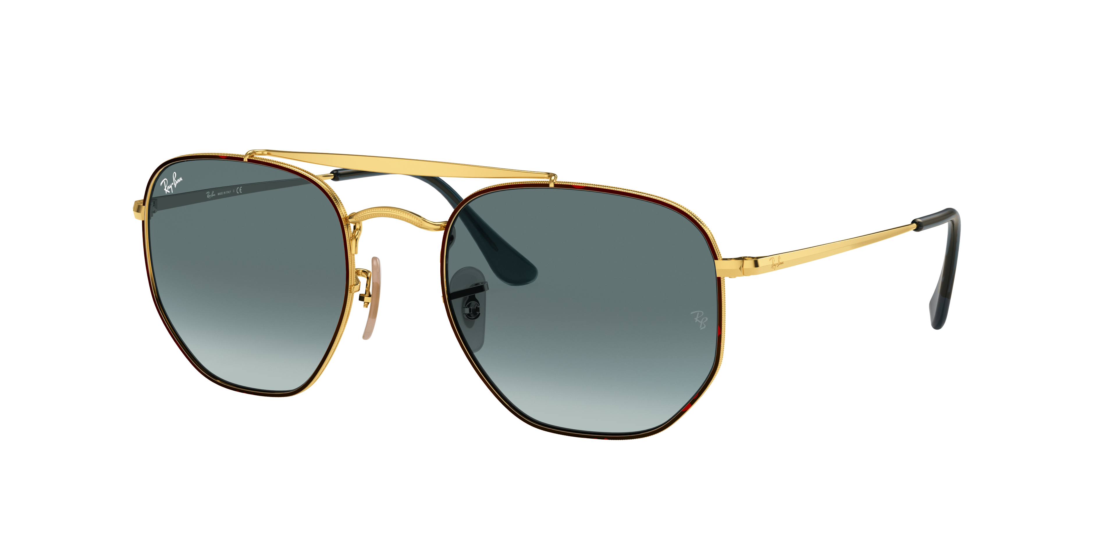 Ray-Ban Marshal Gold, Blue Lenses - RB3648