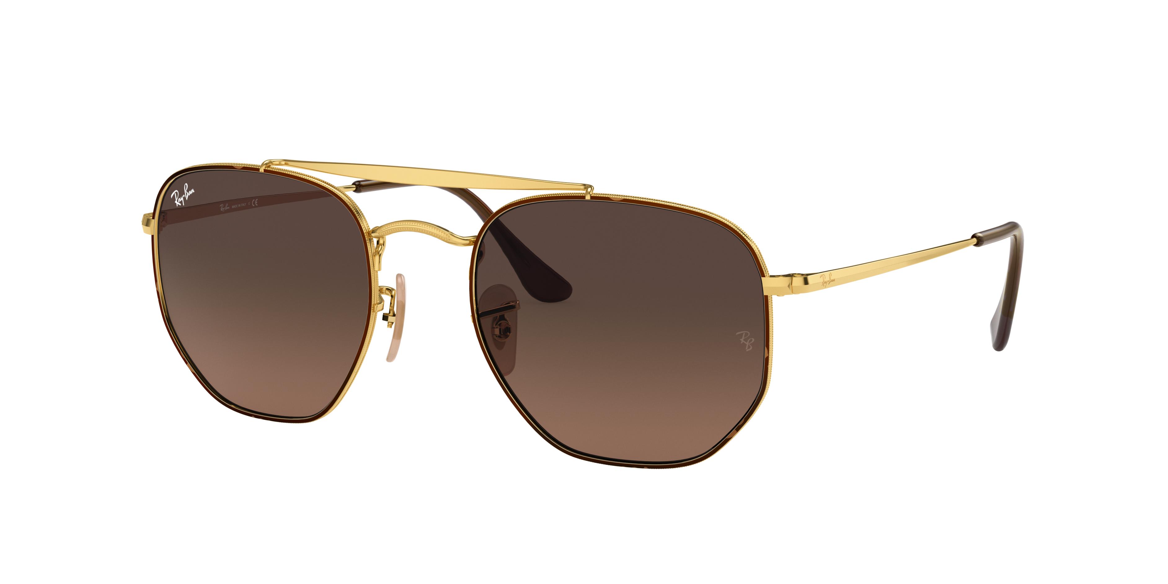 Ray-Ban Marshal Gold, Brown Lenses - RB3648