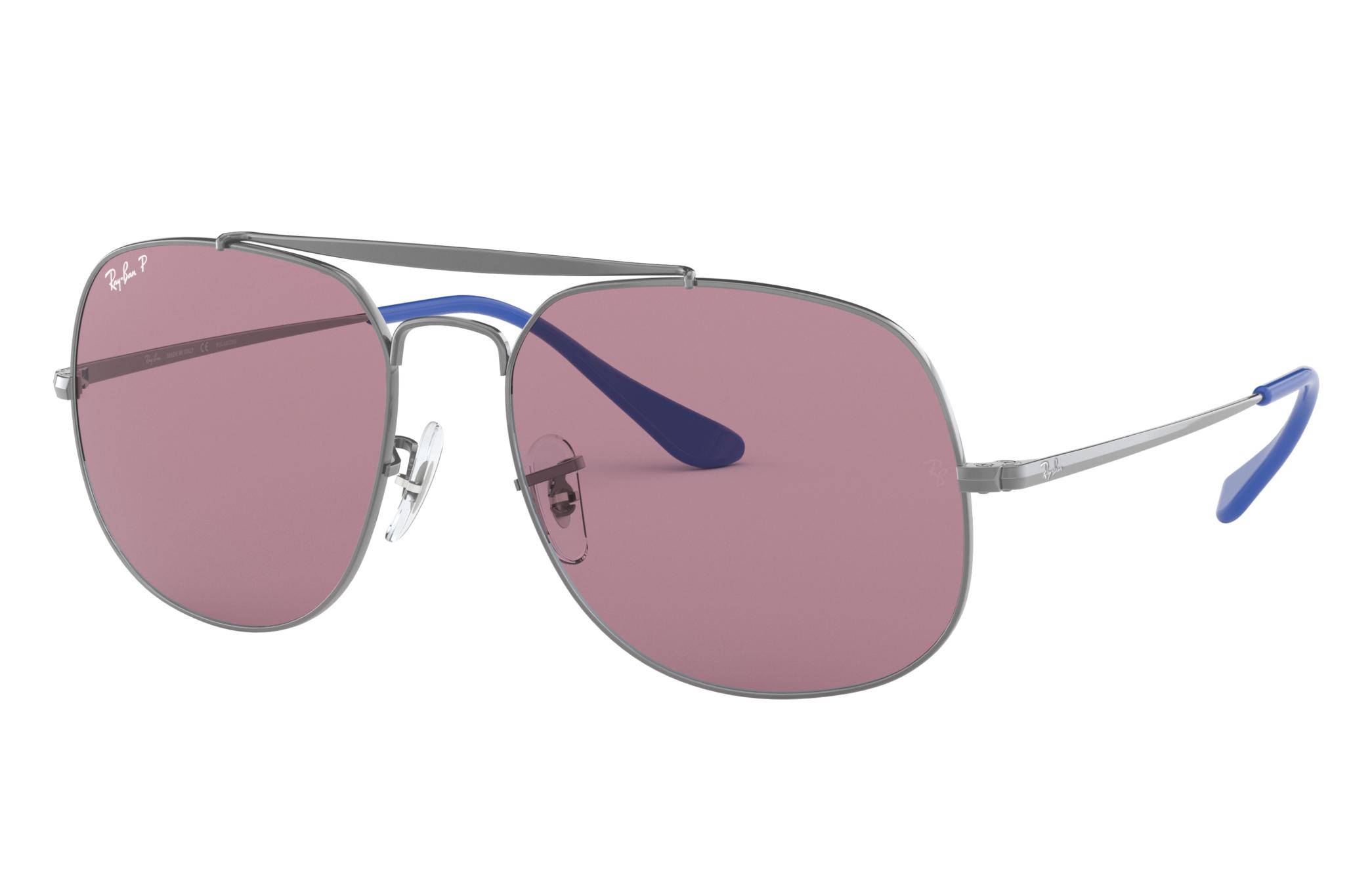 Ray-Ban General Pop Gunmetal, Polarized Violet Lenses - RB3561