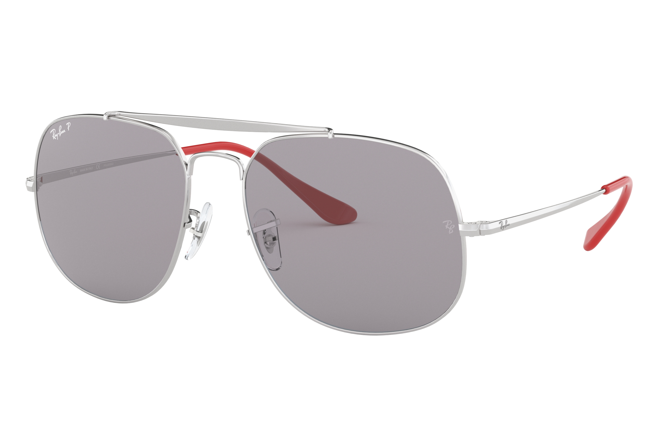 Ray-Ban General Pop Silver, Polarized Grey Lenses - RB3561