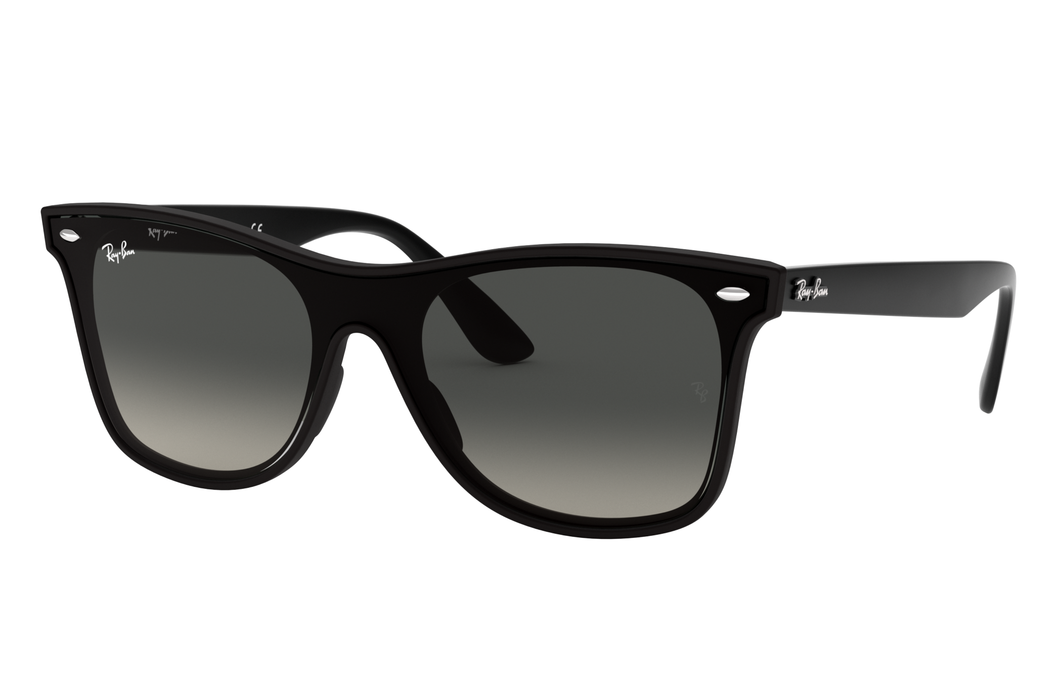 Ray-Ban Blaze Wayfarer Black, Gray Lenses - RB4440N