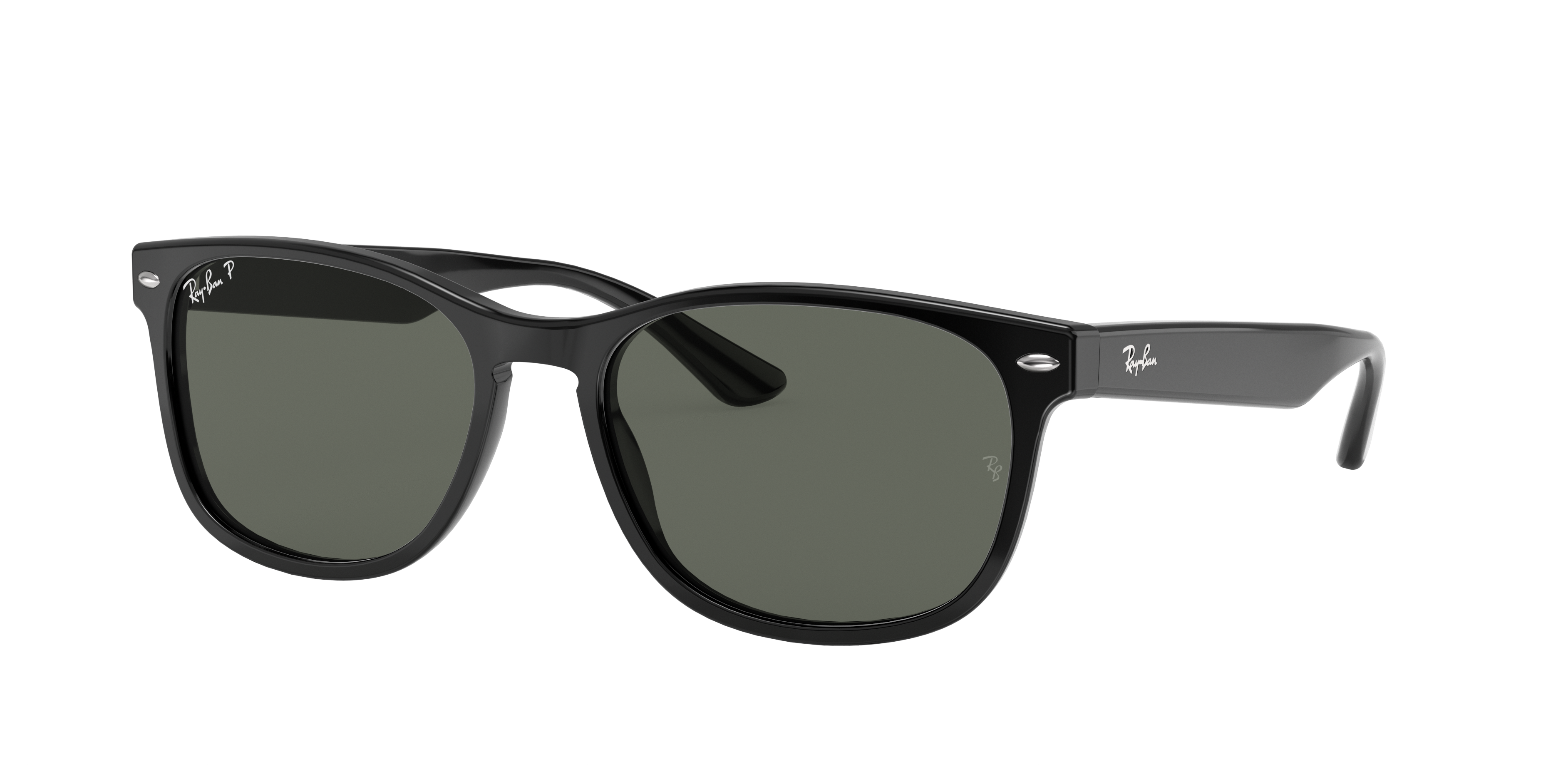 Ray-Ban Rb2184 Black, Polarized Green Lenses - RB2184
