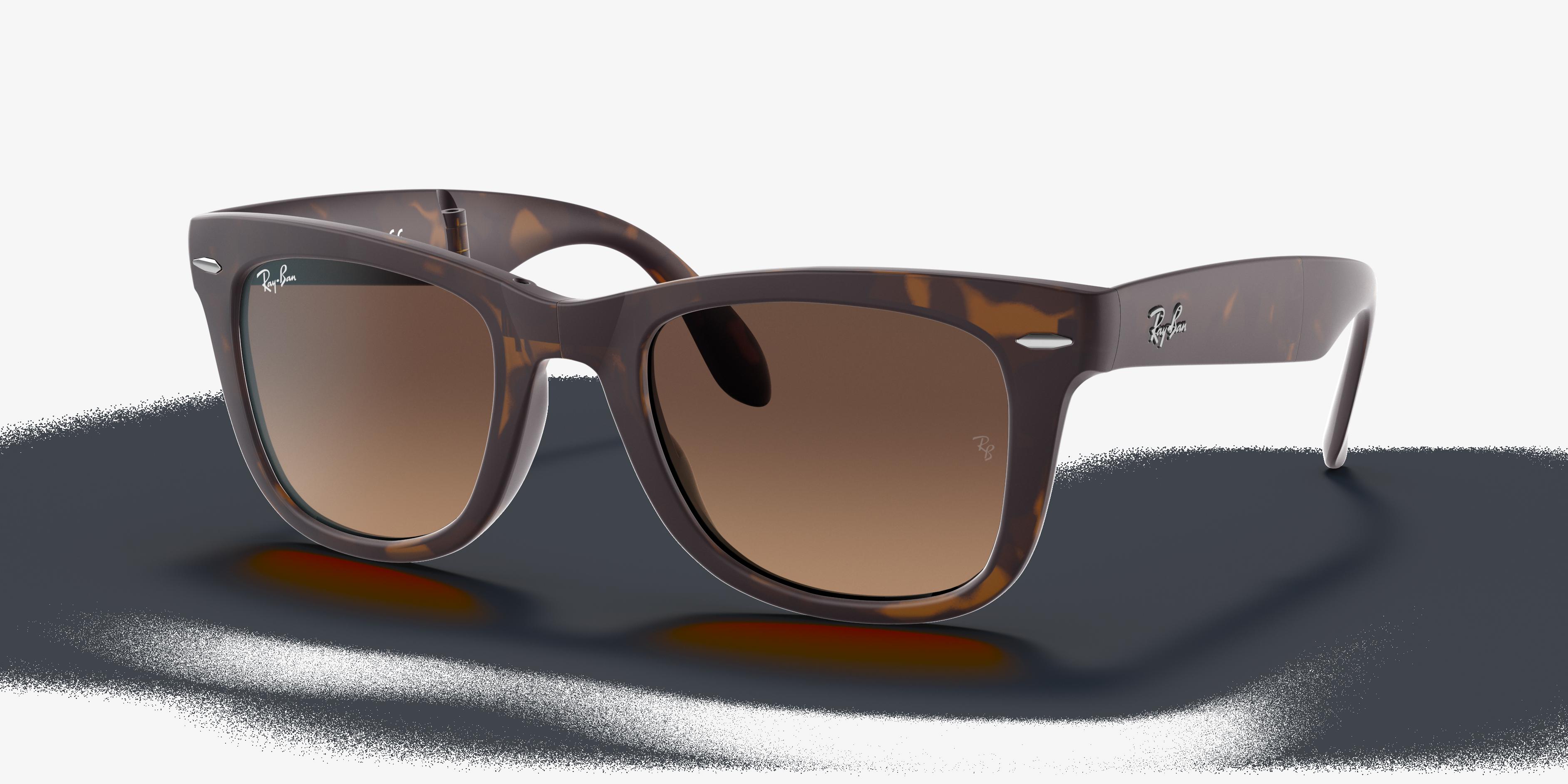 Ray-Ban Wayfarer Folding Gradient Tortoise, Brown Lenses - RB4105