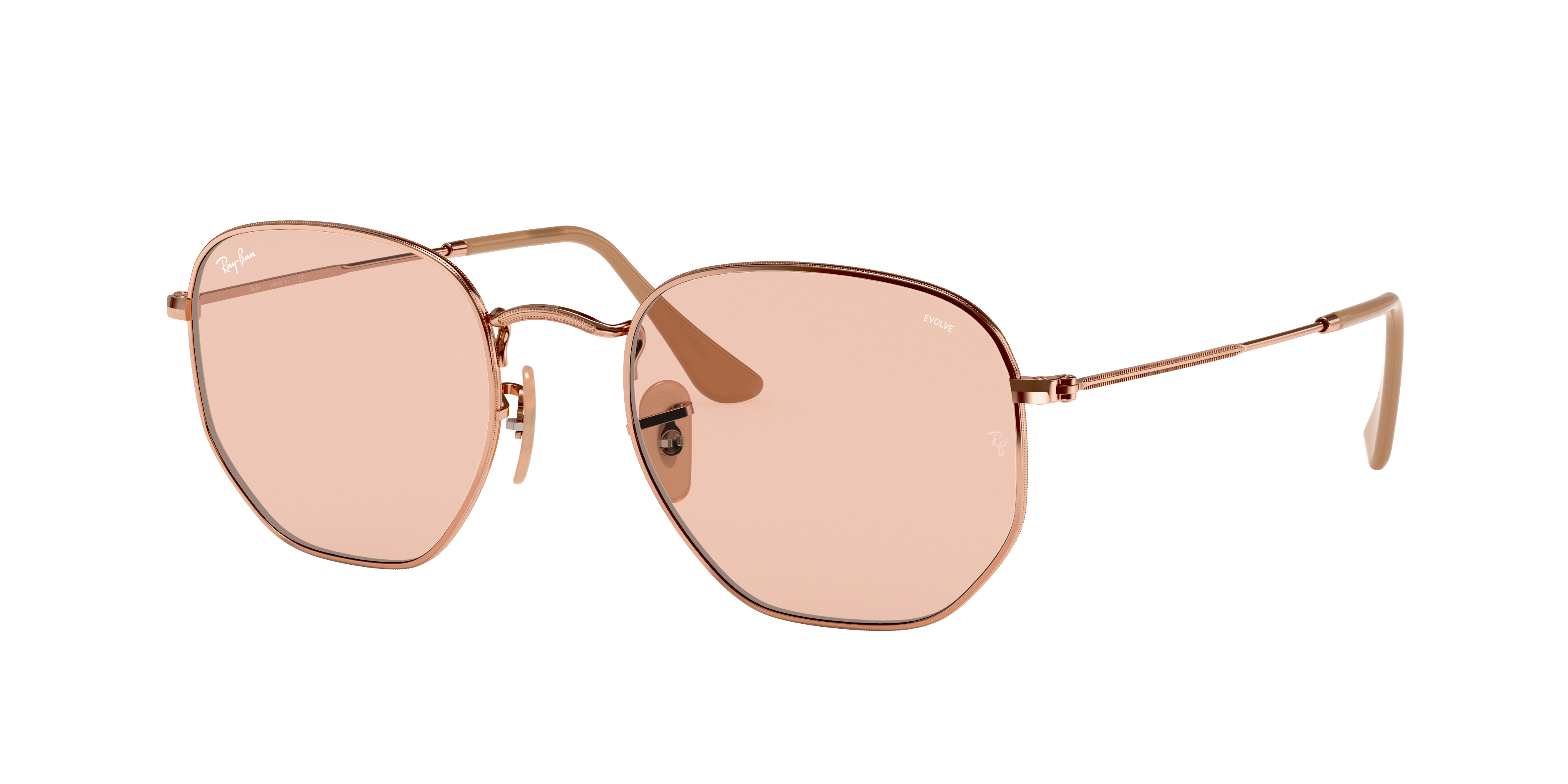 Ray-Ban Hexagonal Washed Evolve Bronze-Copper, Brown Lenses - RB3548N