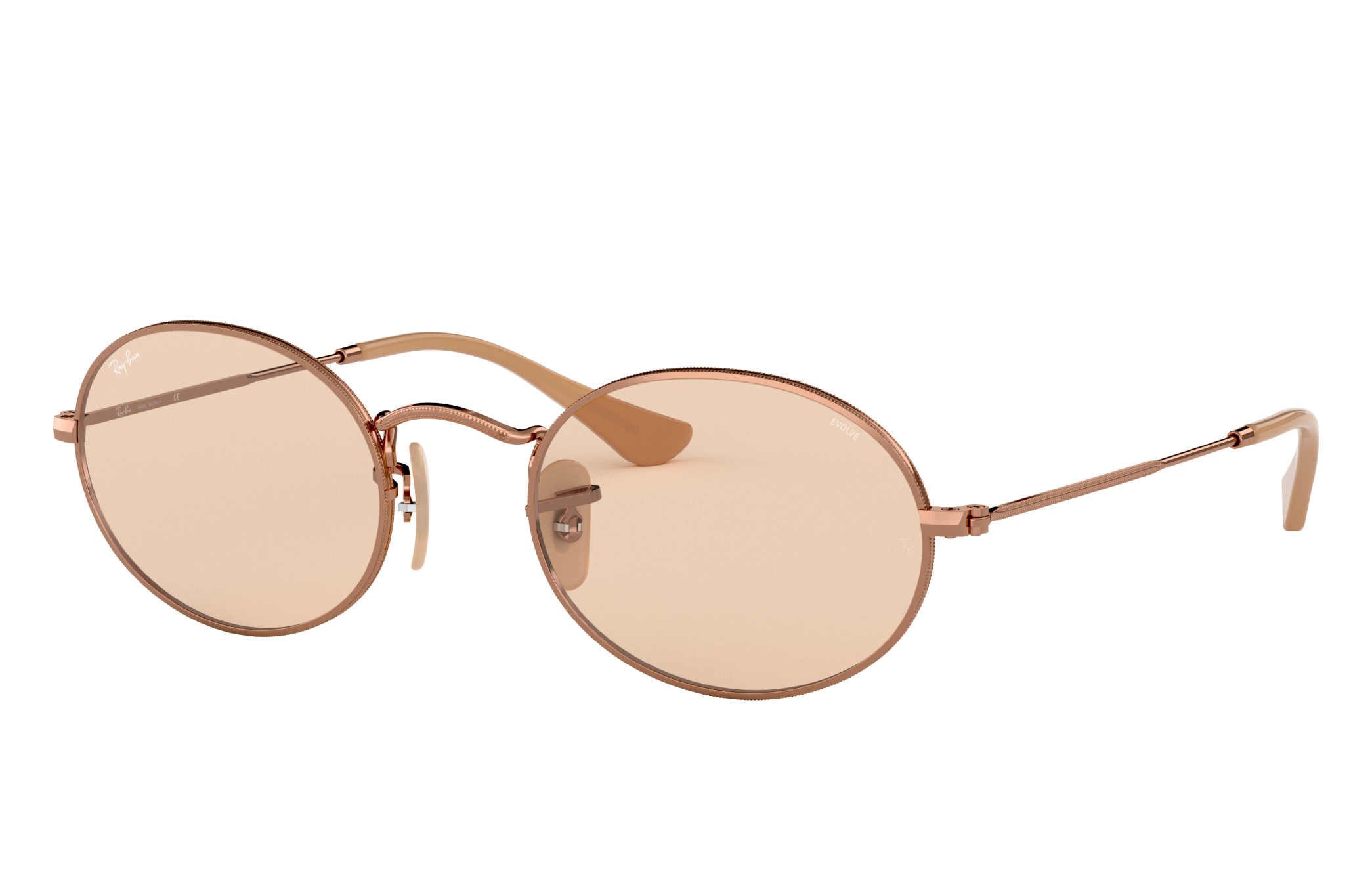 Ray-Ban Oval Washed Evolve Bronze-Copper, Brown Lenses - RB3547N