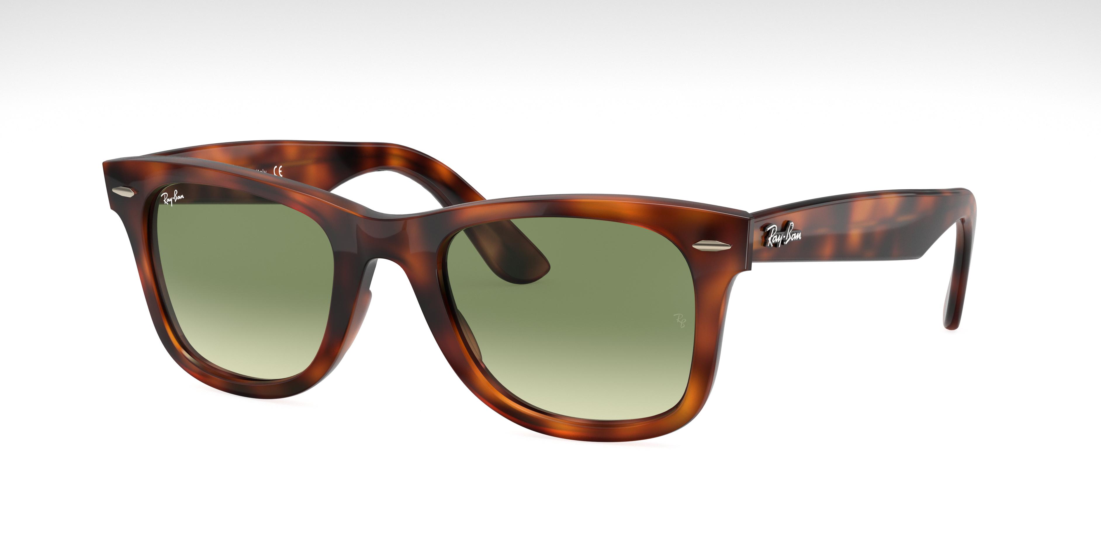 Ray-Ban Wayfarer Ease Tortoise, Green Lenses - RB4340