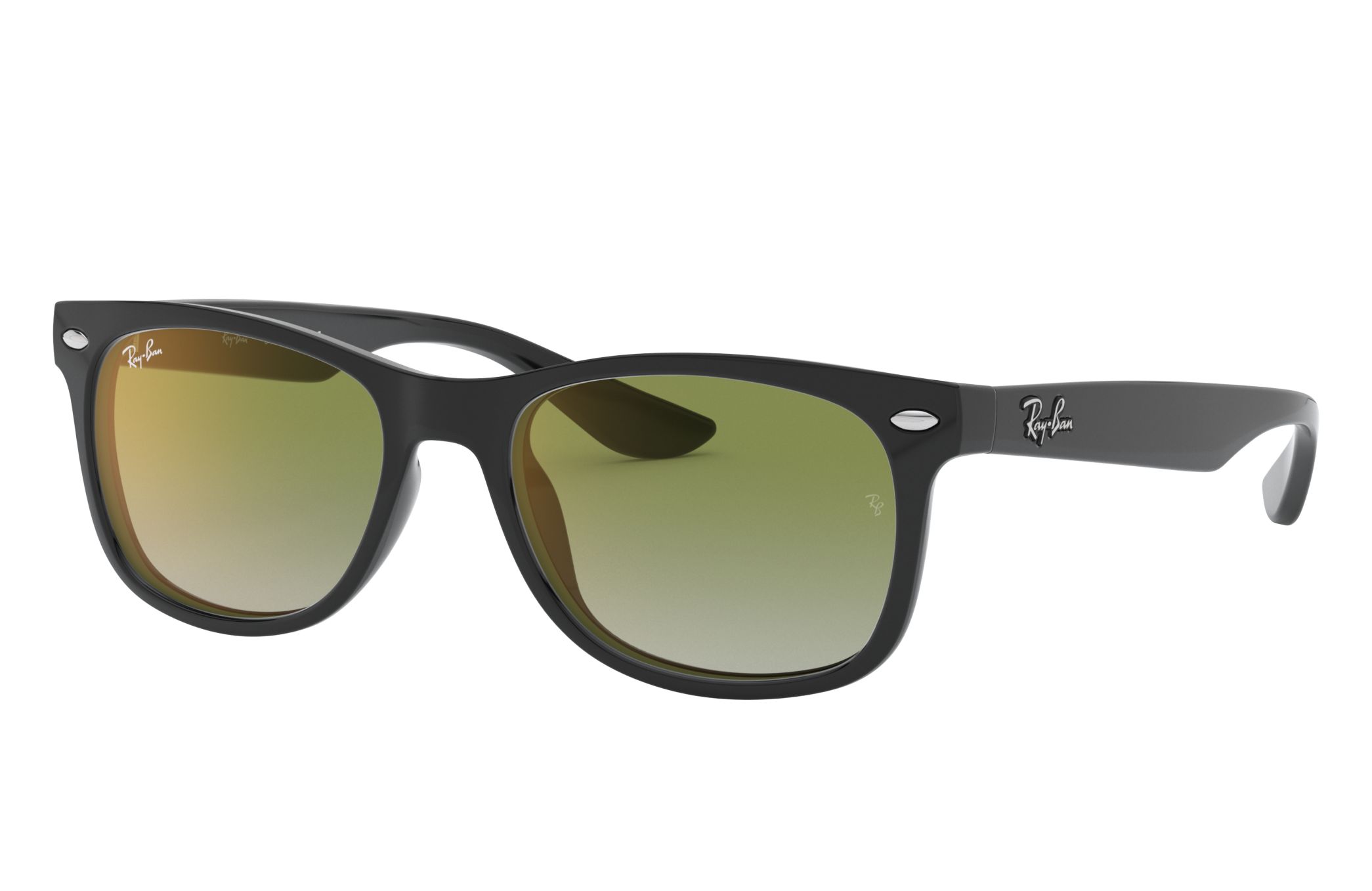 Ray-Ban New Wayfarer Junior Black, Green Lenses - RJ9052S