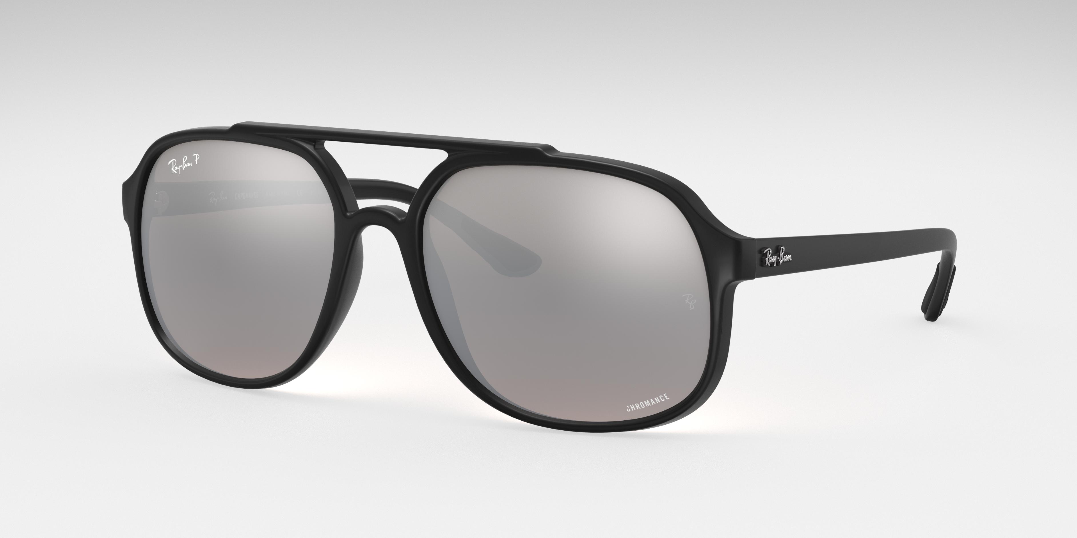 Ray-Ban Rb4312 Chromance Black, Polarized Gray Lenses - RB4312CH
