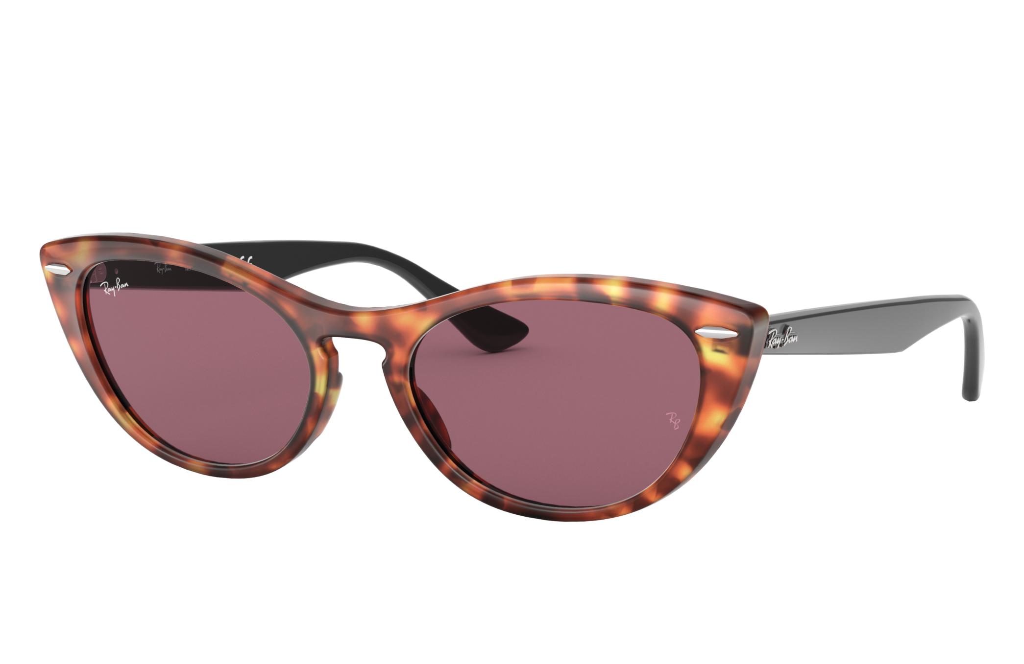 Ray-Ban Nina Black, Violet Lenses - RB4314N