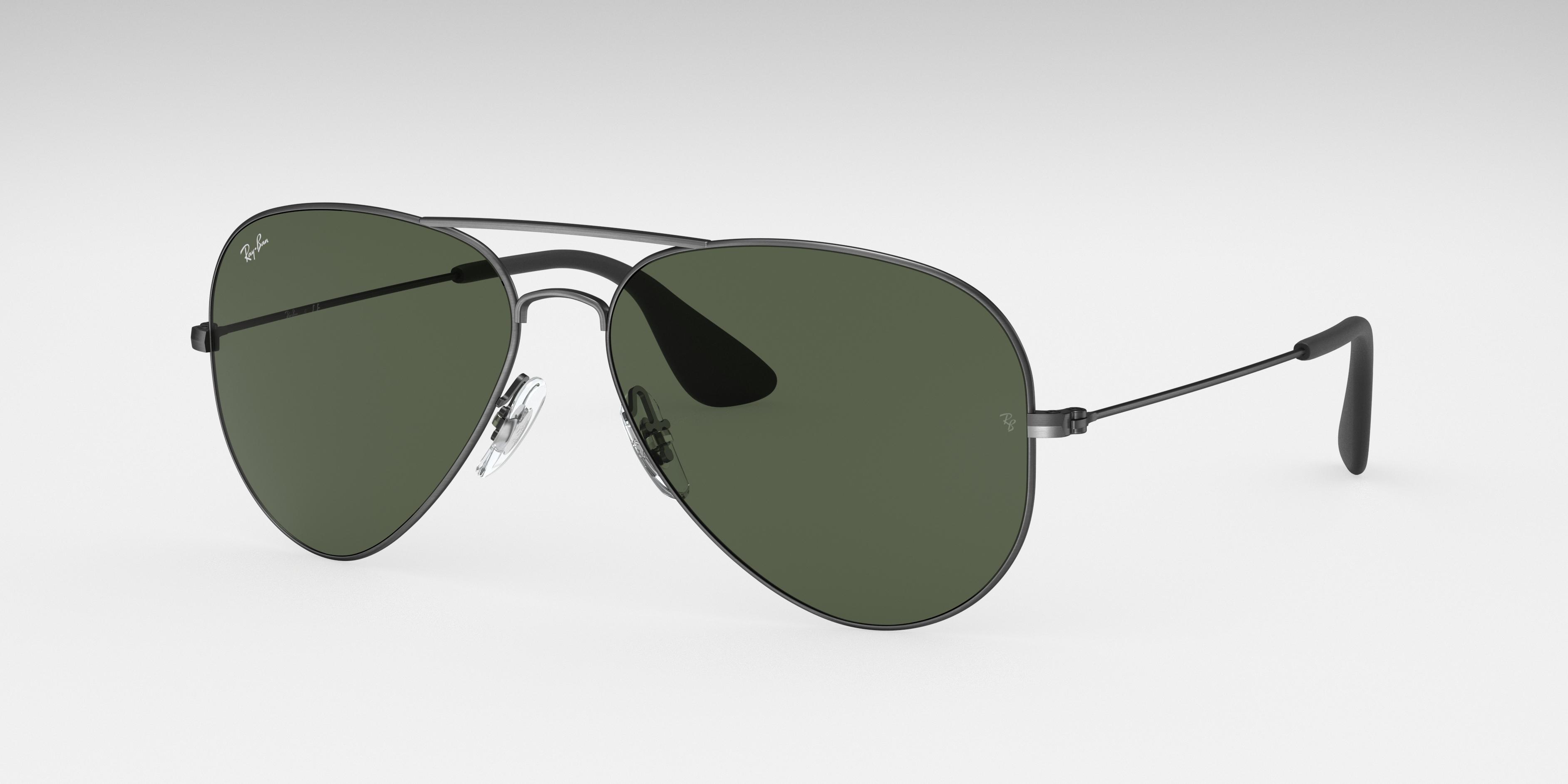 Ray-Ban Rb3558 Black, Green Lenses - RB3558