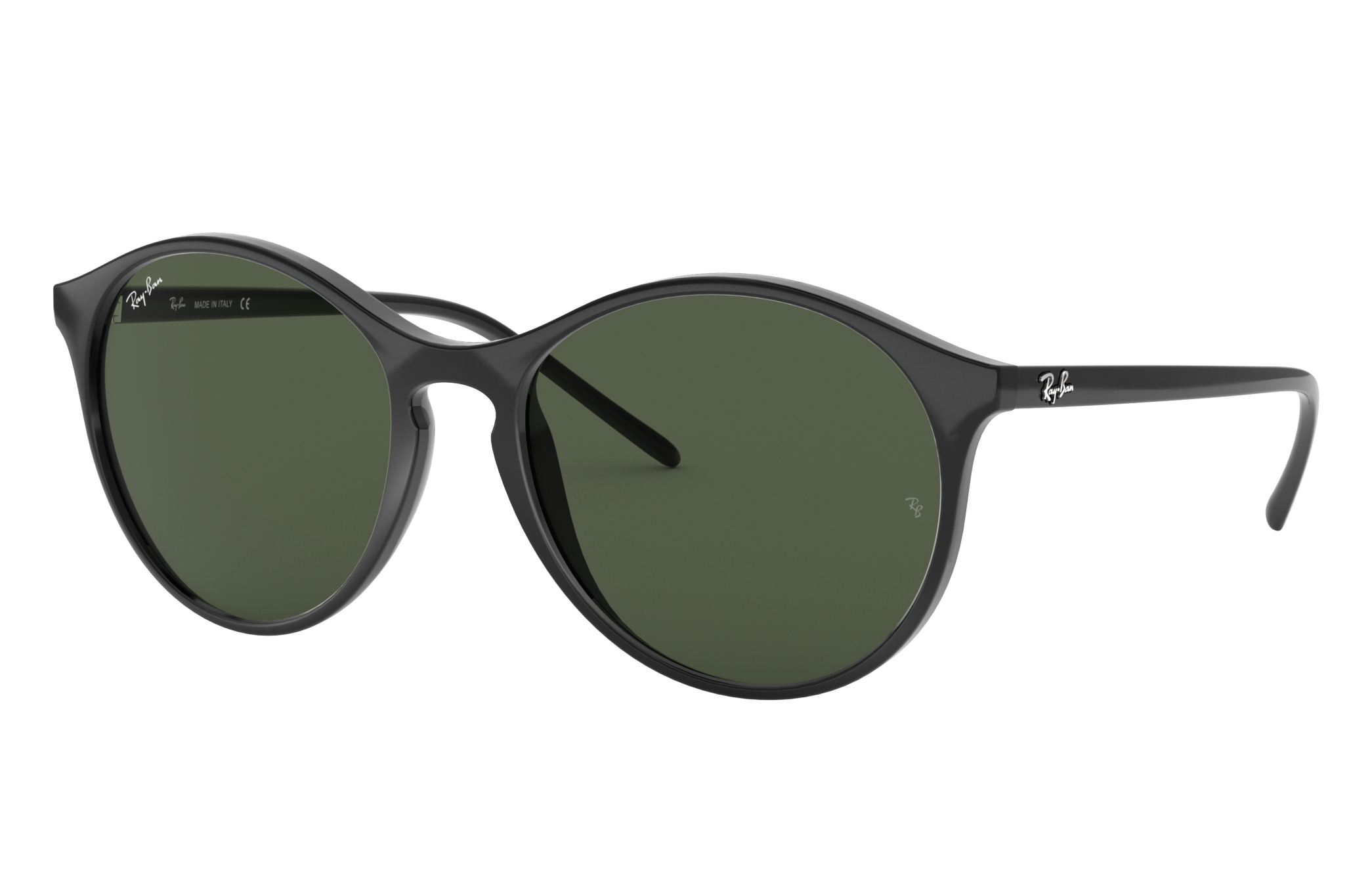 Ray-Ban Rb4371 Black, Green Lenses - RB4371