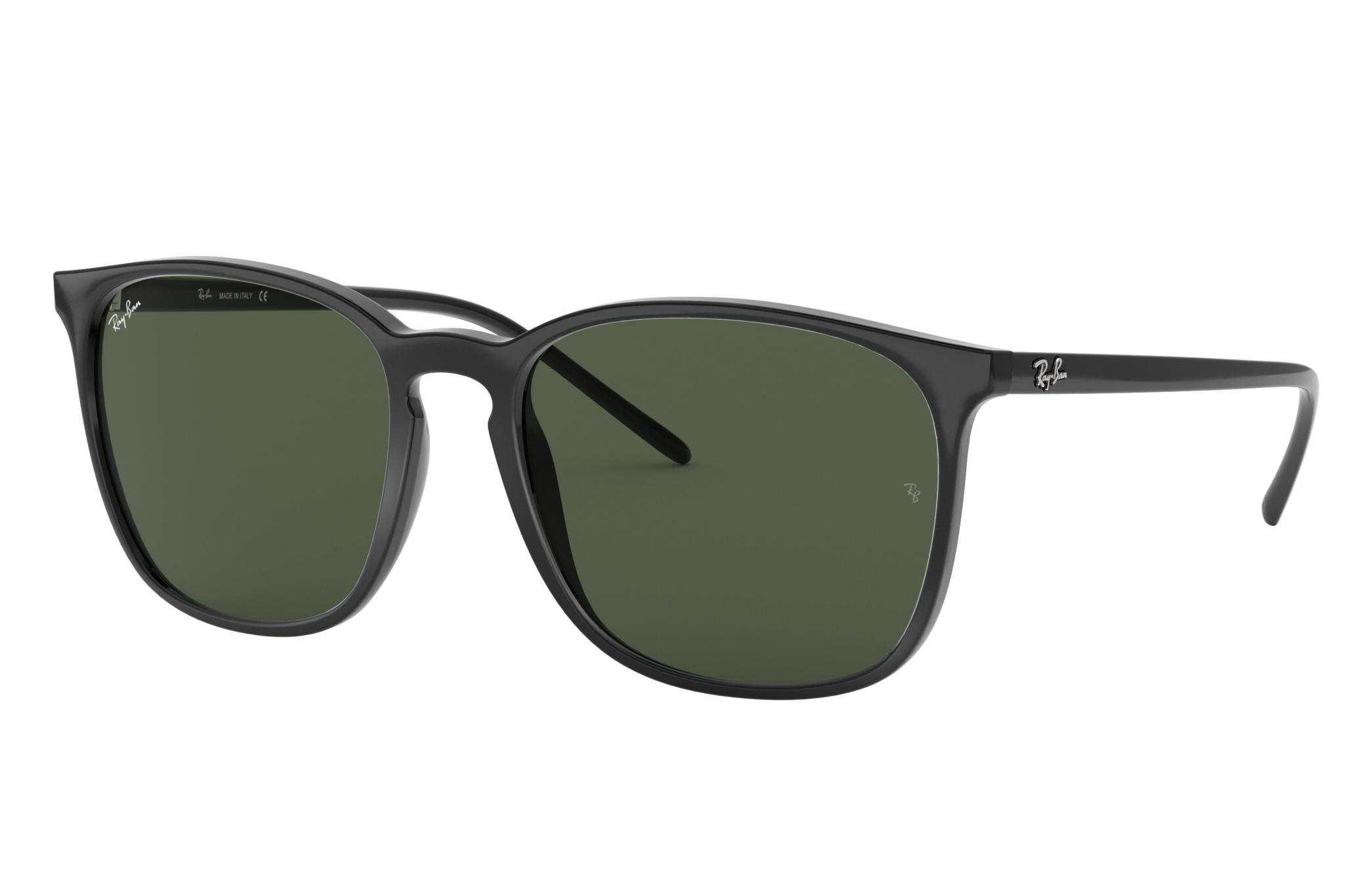 Ray-Ban Rb4387 Black, Green Lenses - RB4387