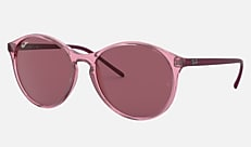 Ray-Ban RB4371F 126575 55-18 RB4371F (JPフィット) ピンクトランスパレント 新作サングラス
