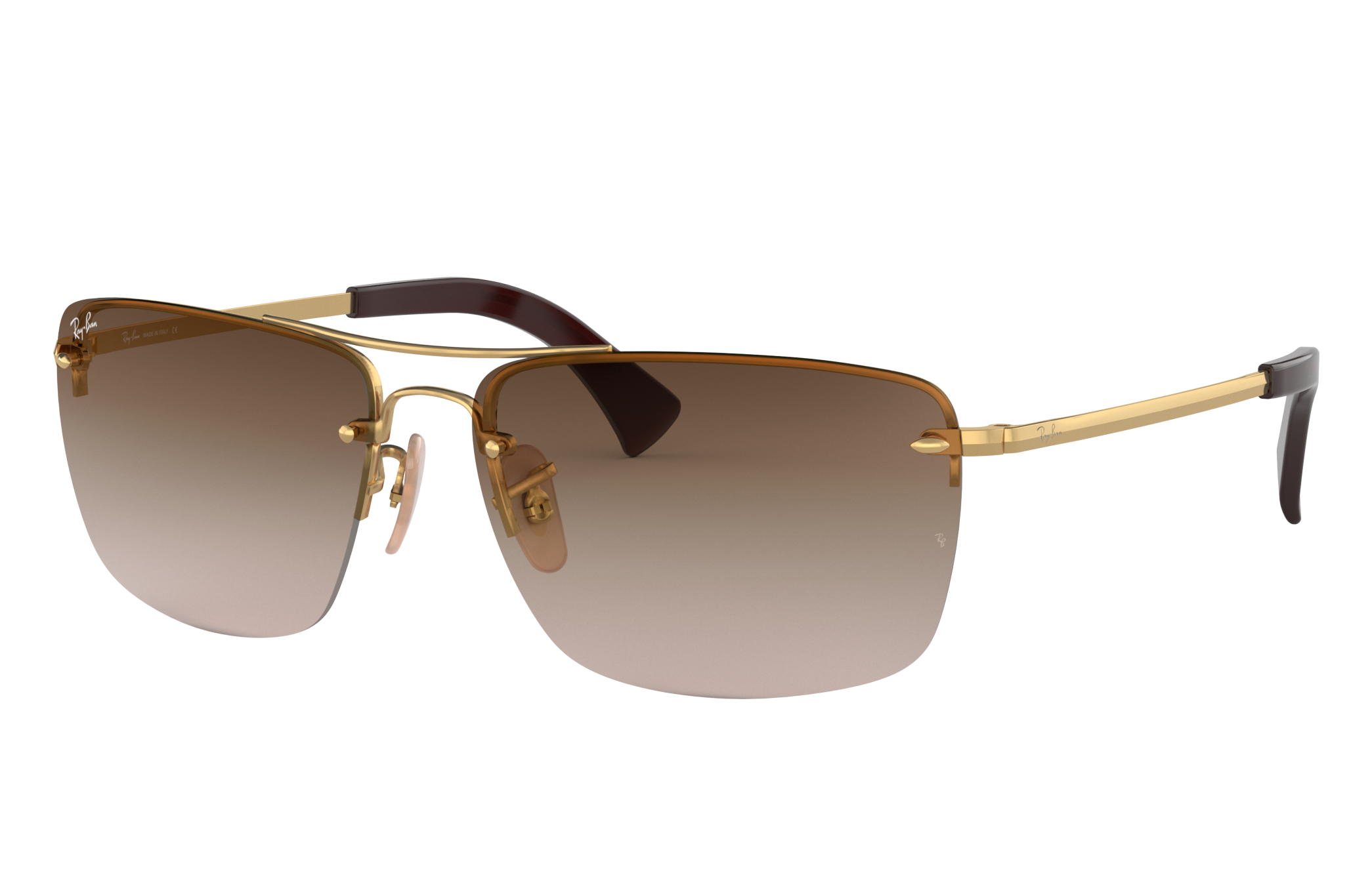 Ray-Ban Rb3607 Gold, Brown Lenses - RB3607