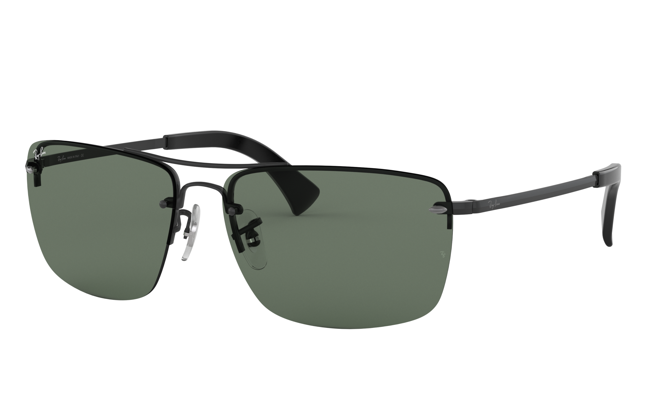 Ray-Ban Rb3607 Black, Green Lenses - RB3607