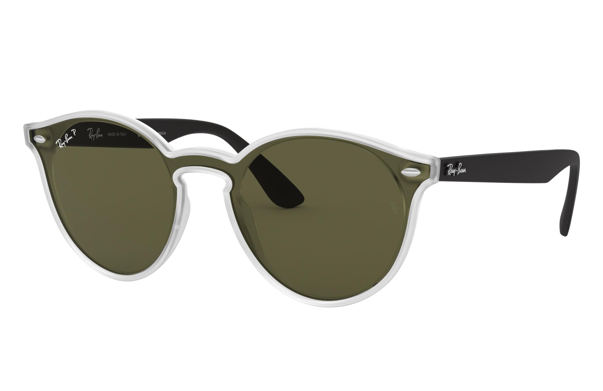 Ray-Ban Blaze Rb4380n Black, Polarized Green Lenses - RB4380N