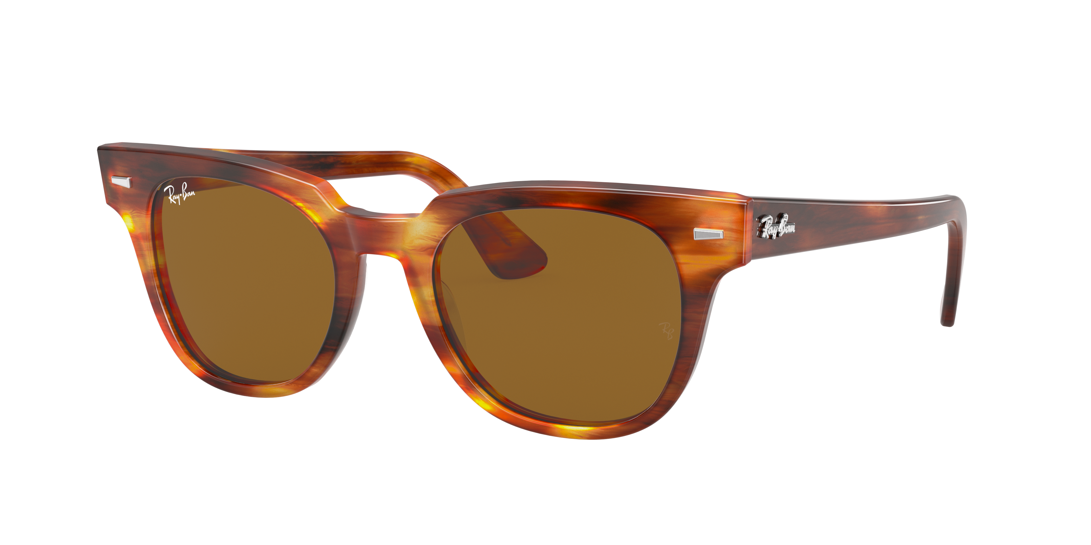 Ray-Ban Meteor Classic Tortoise, Brown Lenses - RB2168