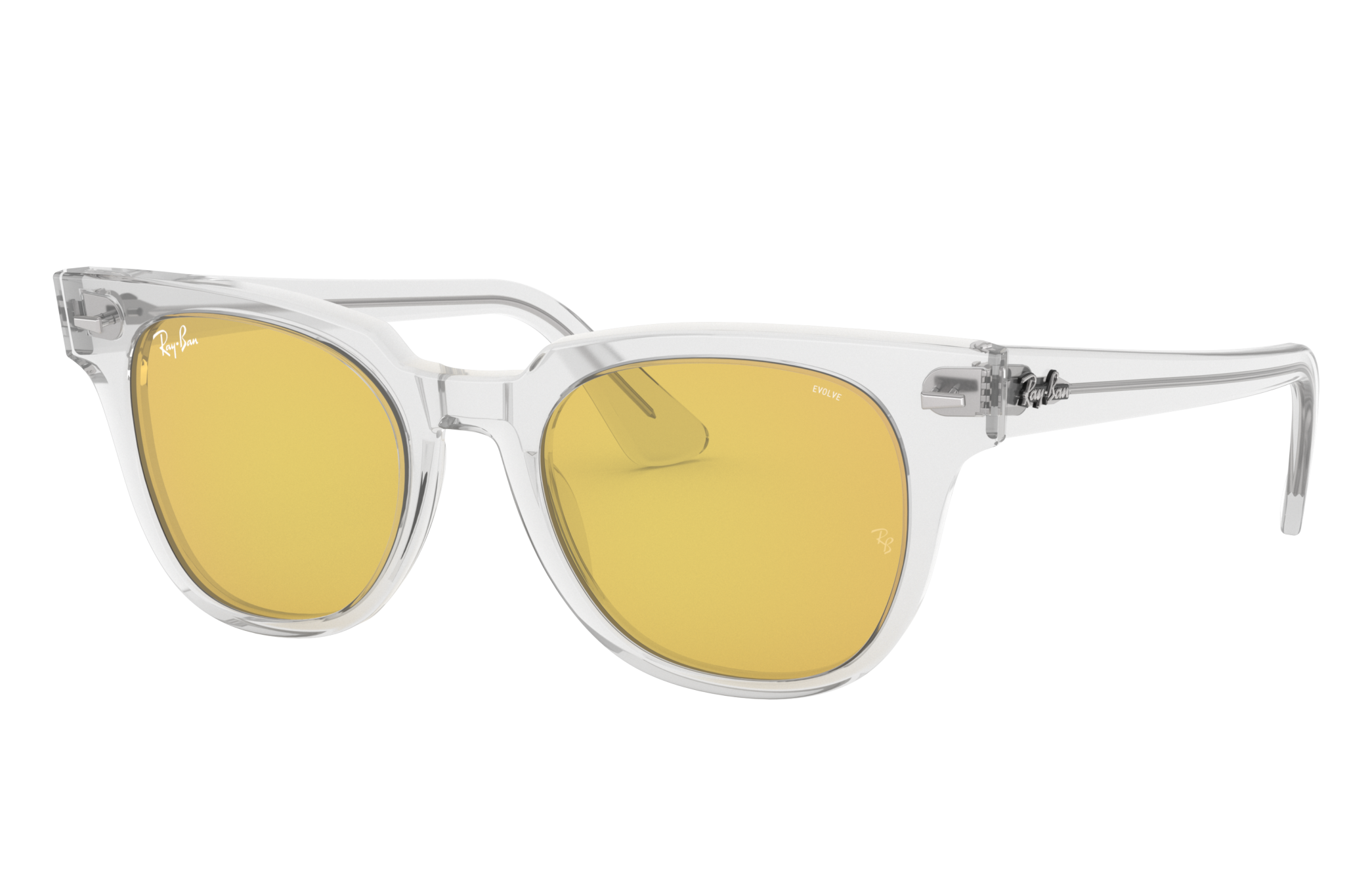 Ray-Ban Meteor Washed Evolve Transparent, Yellow Lenses - RB2168