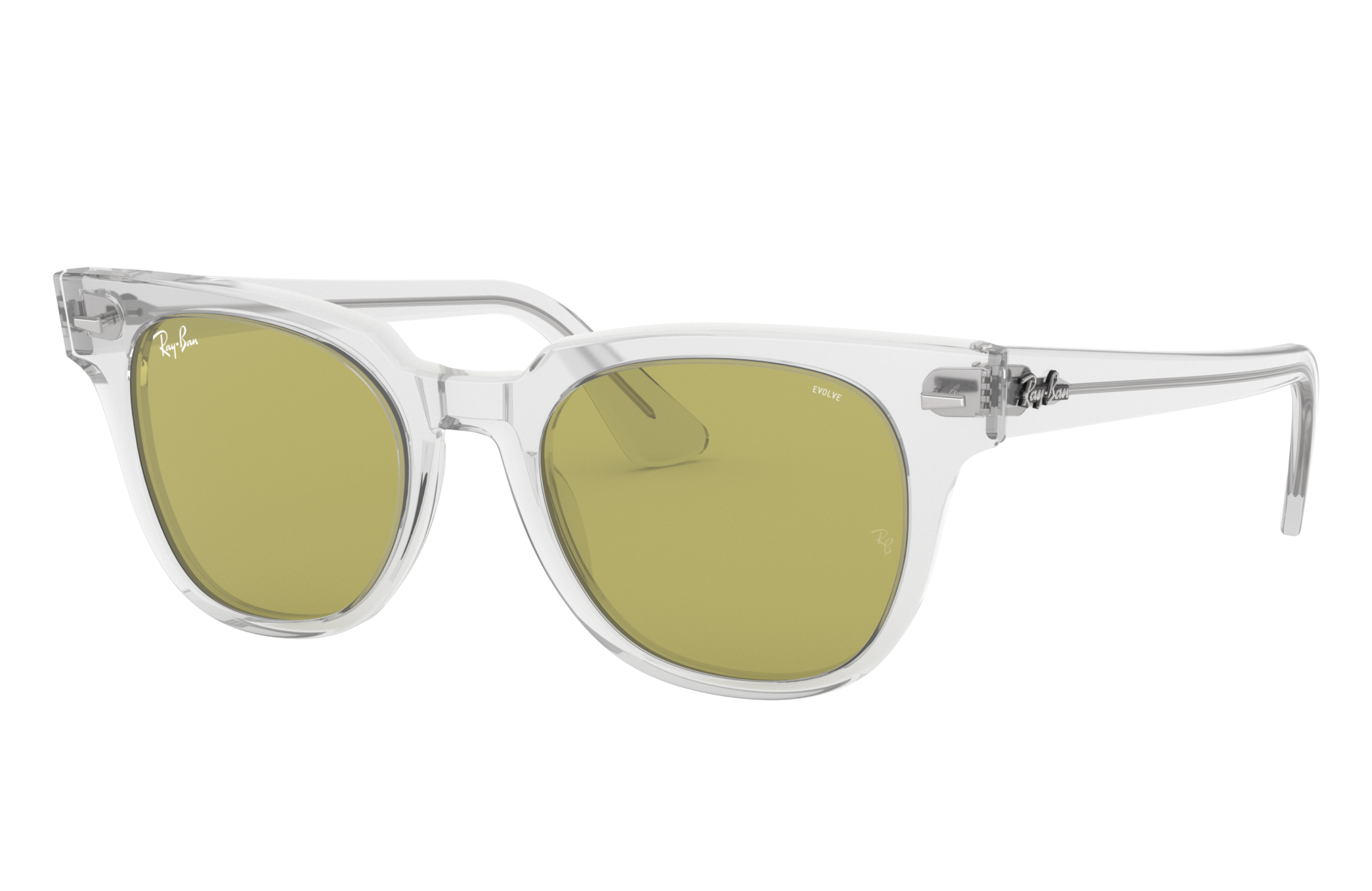 Ray-Ban Meteor Washed Evolve Transparent, Green Lenses - RB2168
