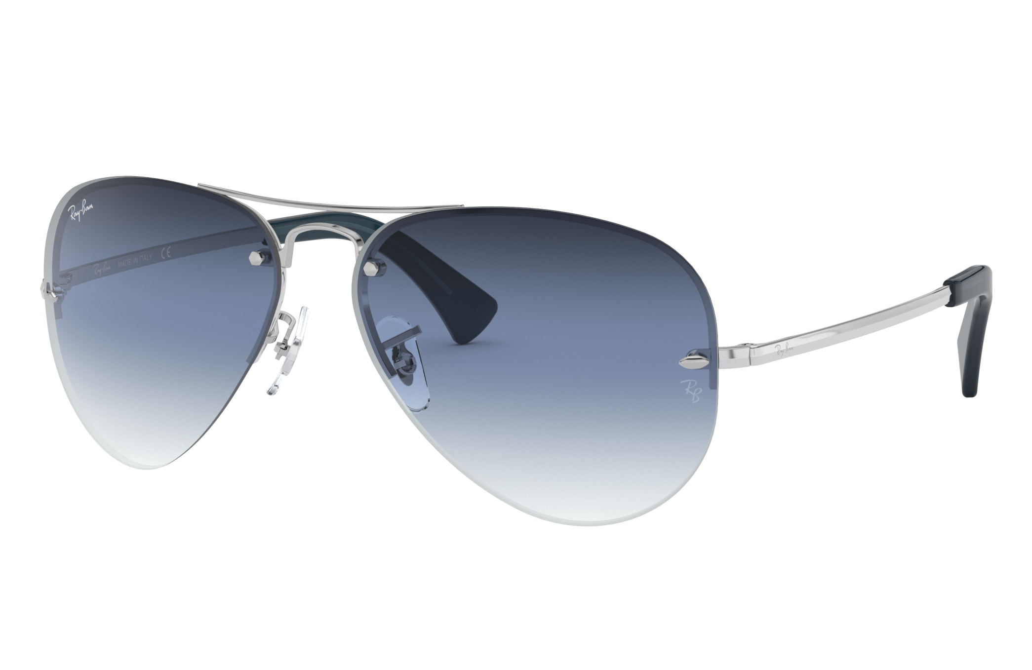 Ray-Ban Rb3449 Silver, Blue Lenses - RB3449