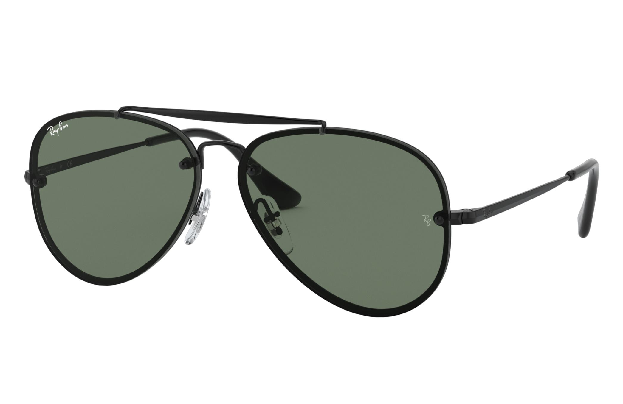 Ray-Ban Blaze Aviator Junior Black, Green Lenses - RJ9548SN