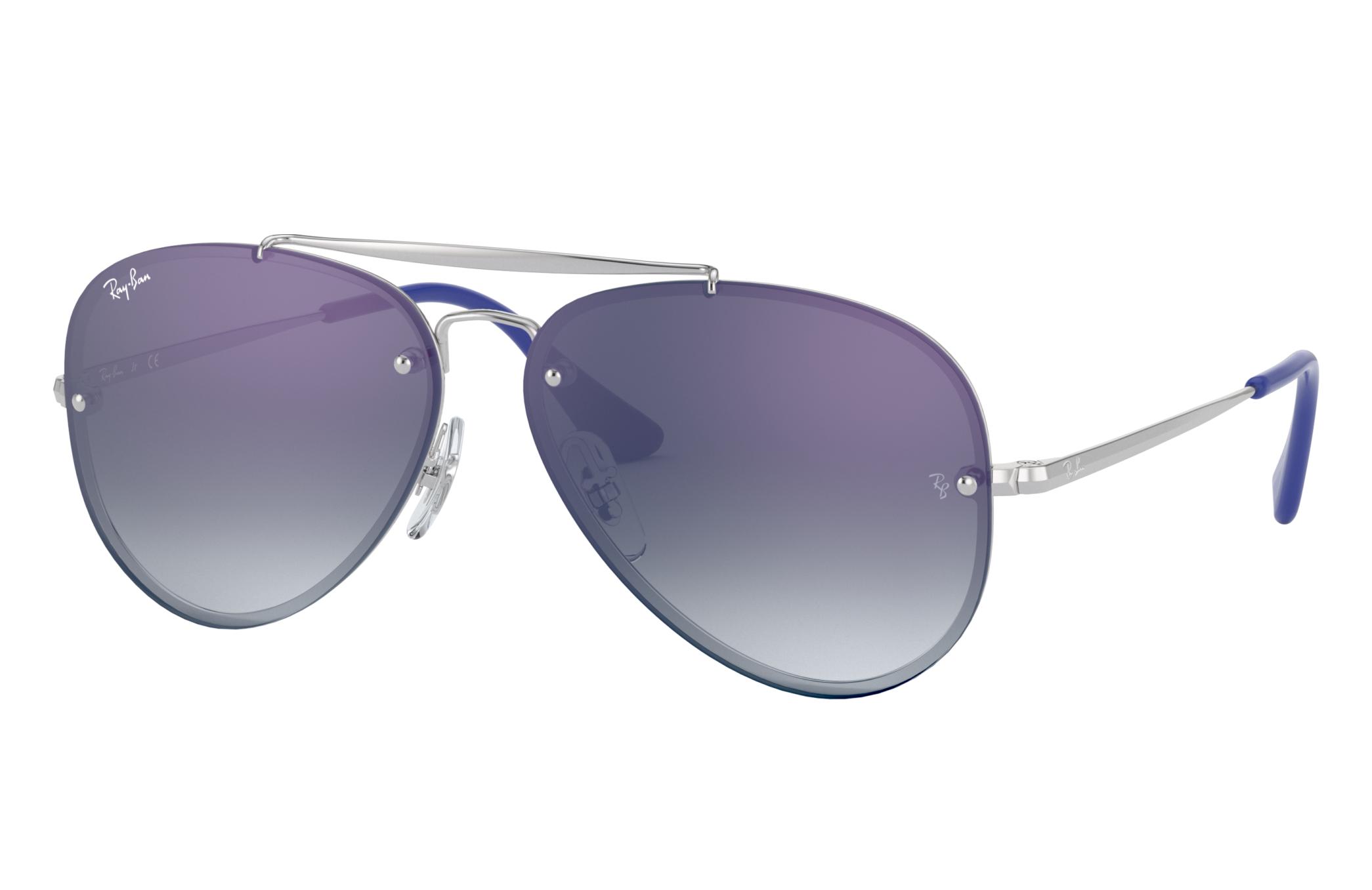 Ray-Ban Blaze Aviator Junior Silver, Blue Lenses - RJ9548SN