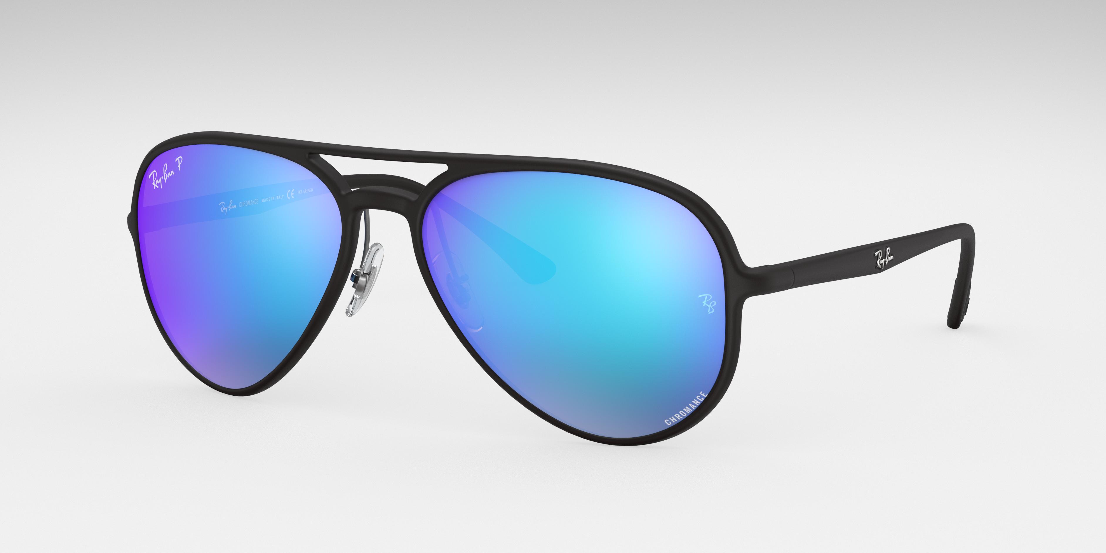 Ray-Ban Rb4320 Chromance Black, Polarized Blue Lenses - RB4320CH