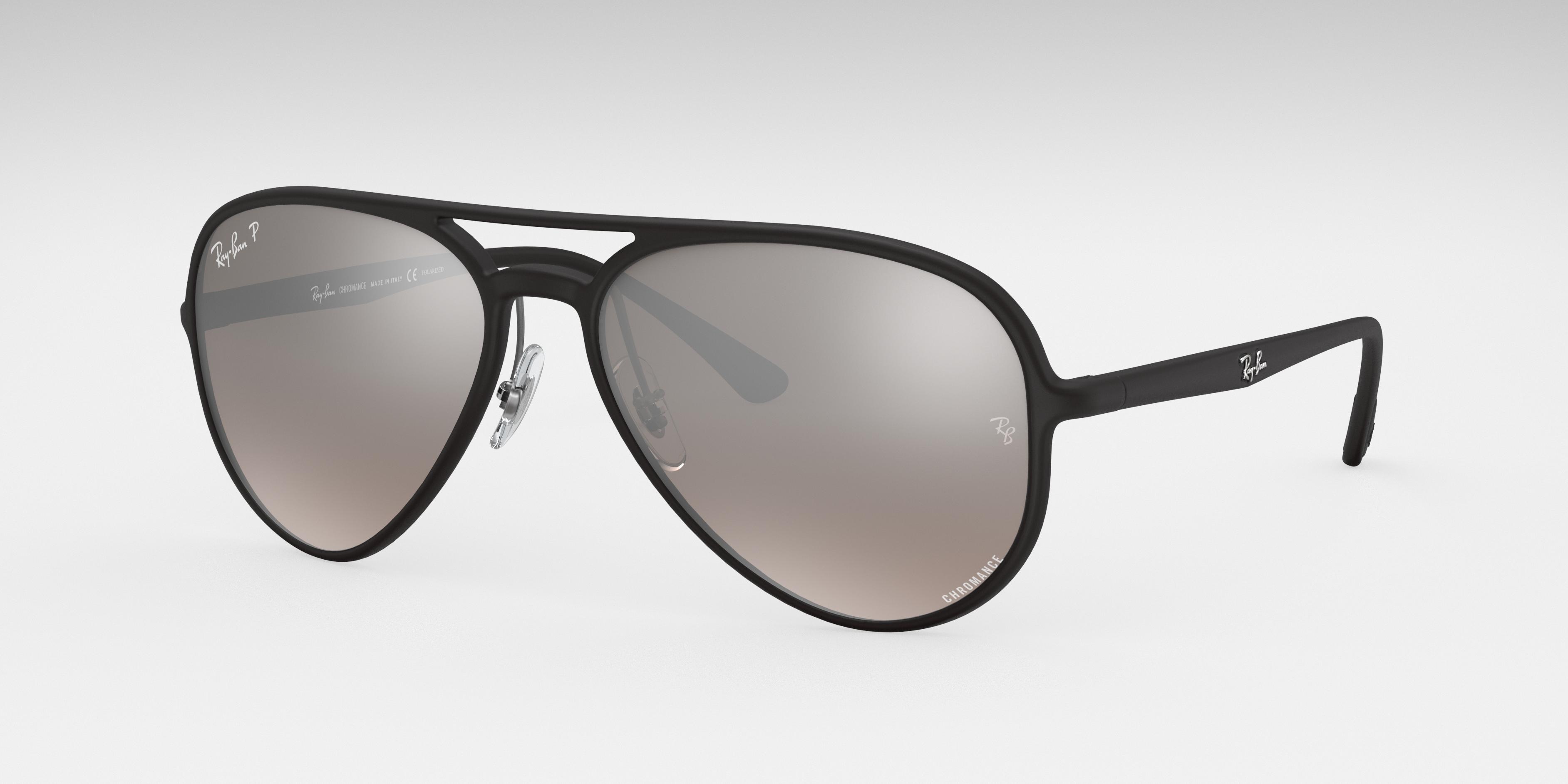 Ray-Ban Rb4320 Chromance Black, Polarized Gray Lenses - RB4320CH