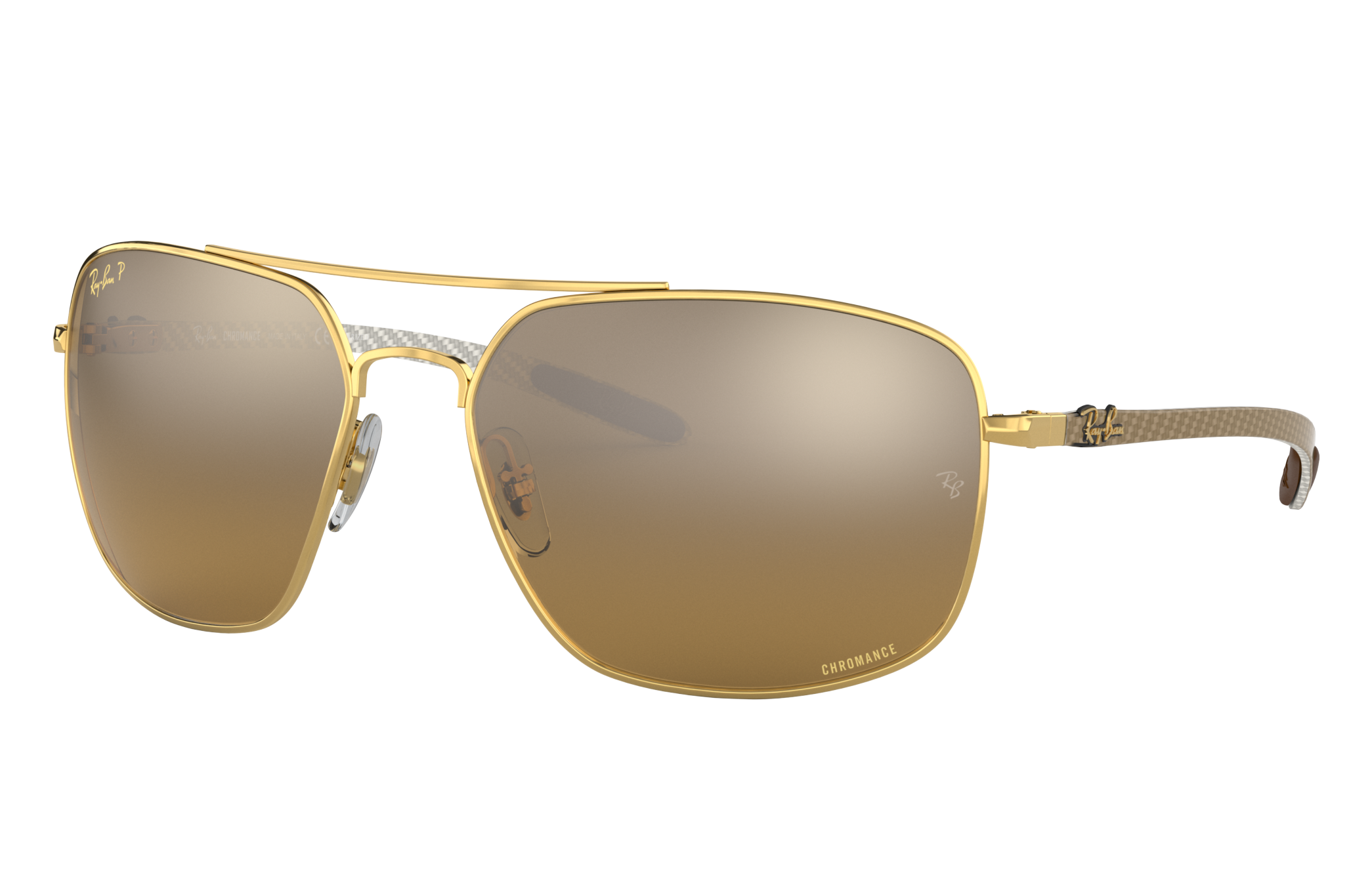 Ray-Ban Rb8322 Chromance Gold, Polarized Brown Lenses - RB8322CH