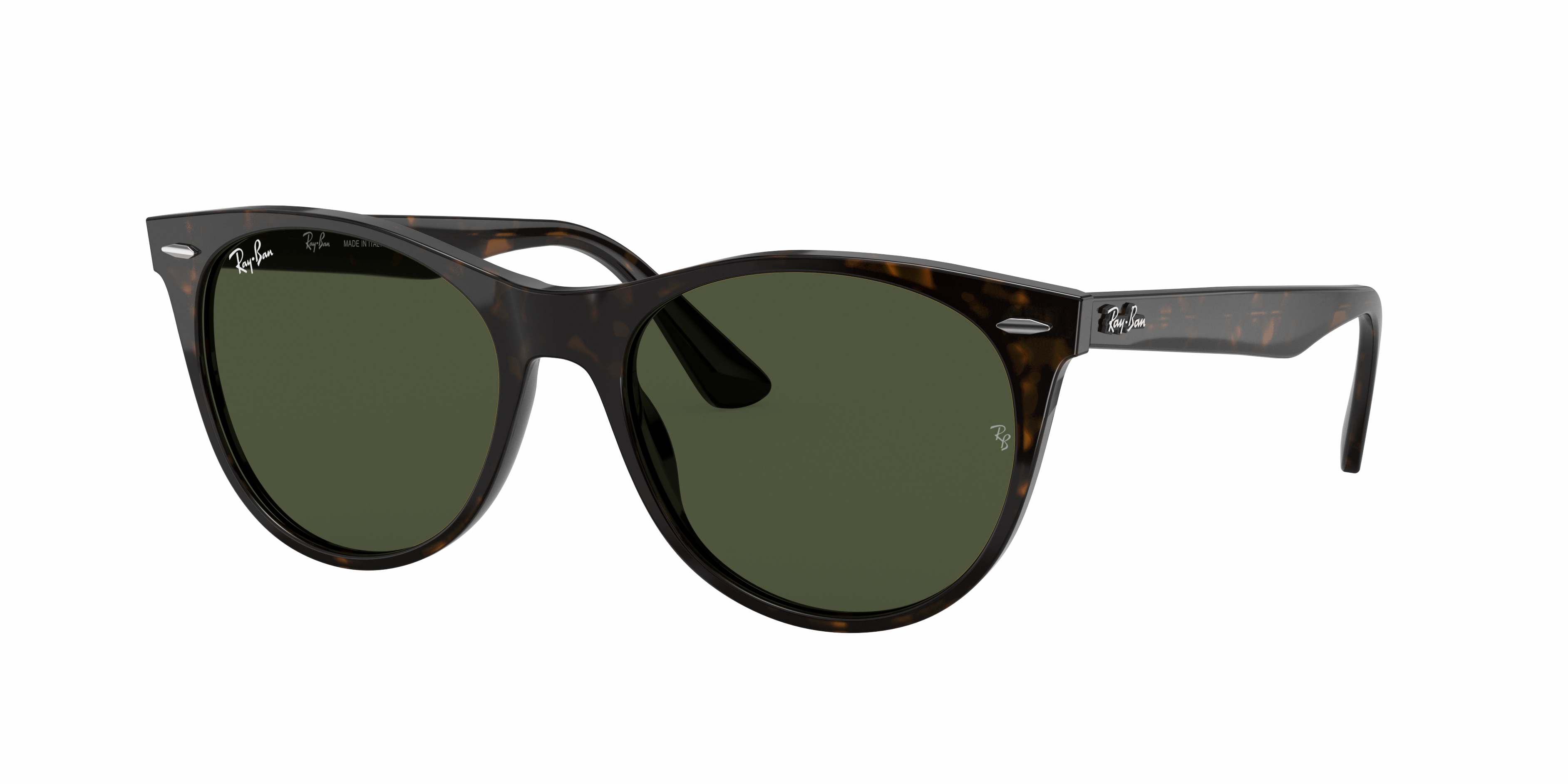 Ray-Ban Wayfarer II Classic Tortoise, Green Lenses - RB2185