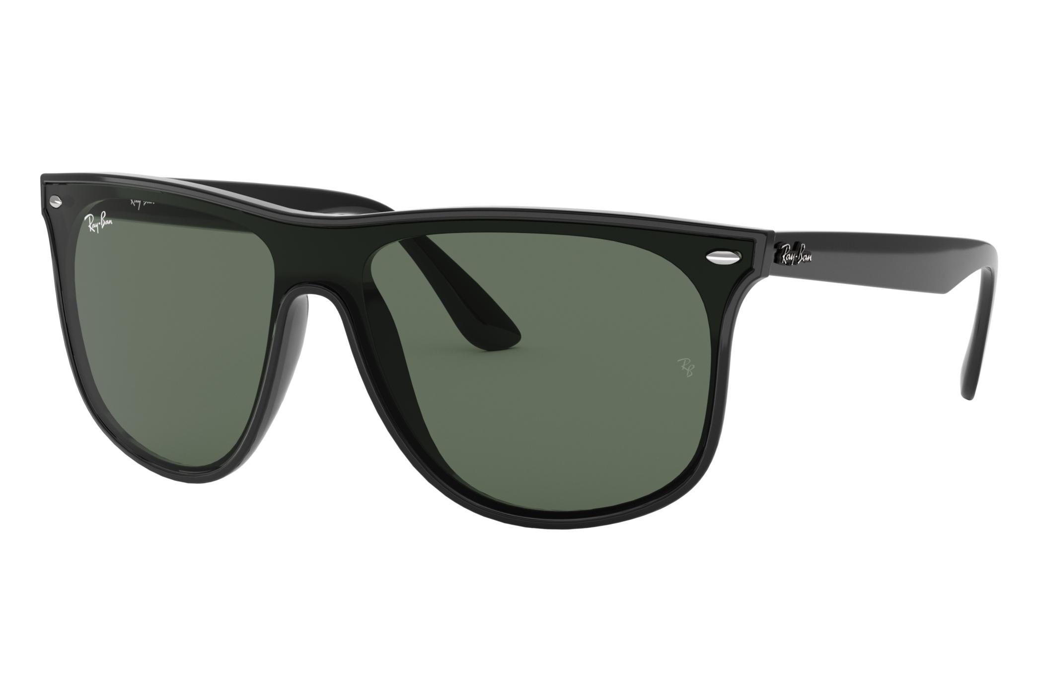 Ray-Ban Blaze Rb4447n Black, Green Lenses - RB4447N