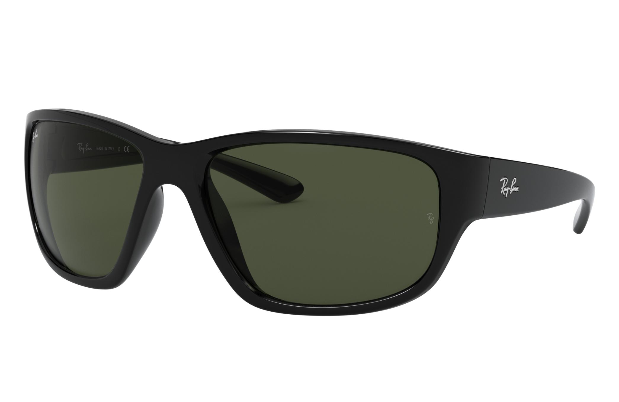 Ray-Ban Rb4300 Black, Green Lenses - RB4300