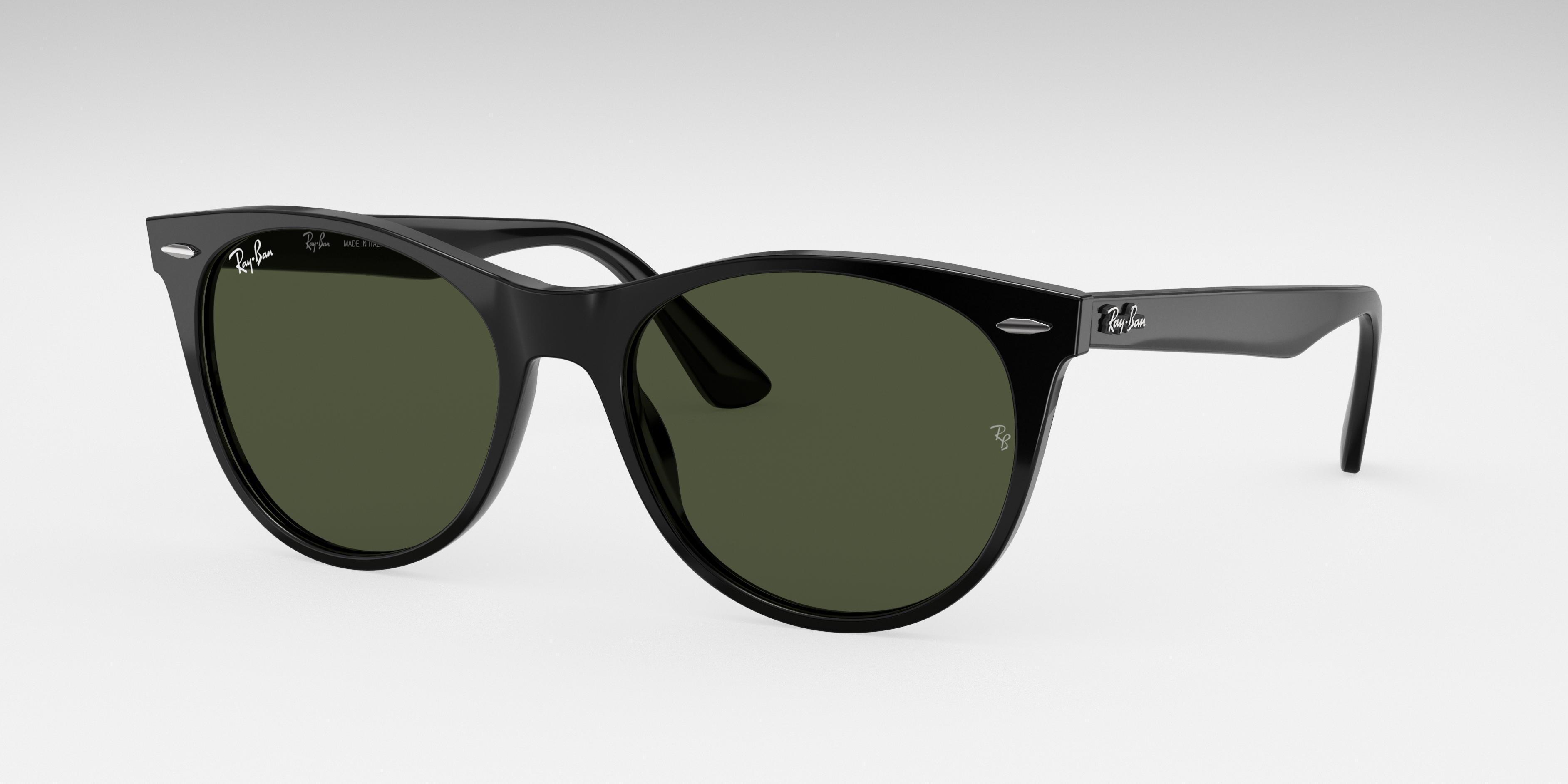 Ray-Ban Wayfarer II Classic Black, Green Lenses - RB2185