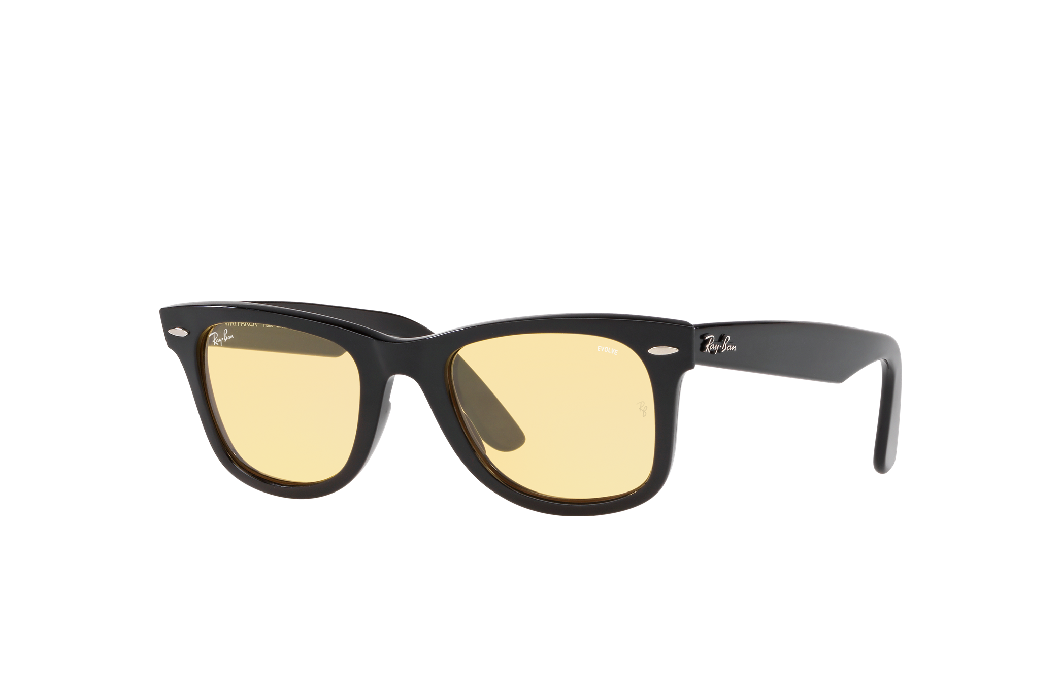 Ray-Ban Wayfarer Washed Evolve - Exclusive Edition Black, Yellow Lenses - RB2140