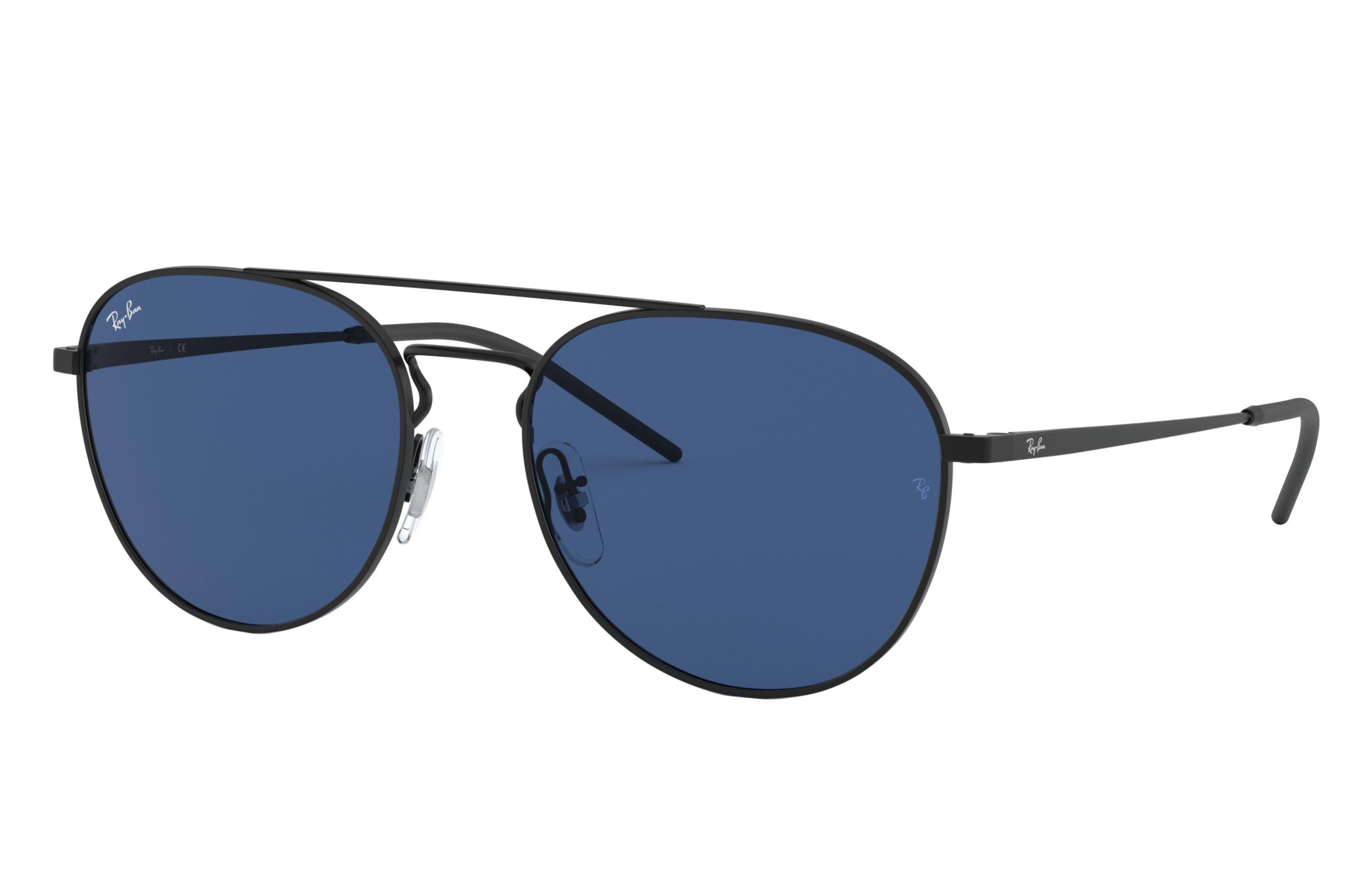 Ray-Ban Rb3589 Black, Blue Lenses - RB3589