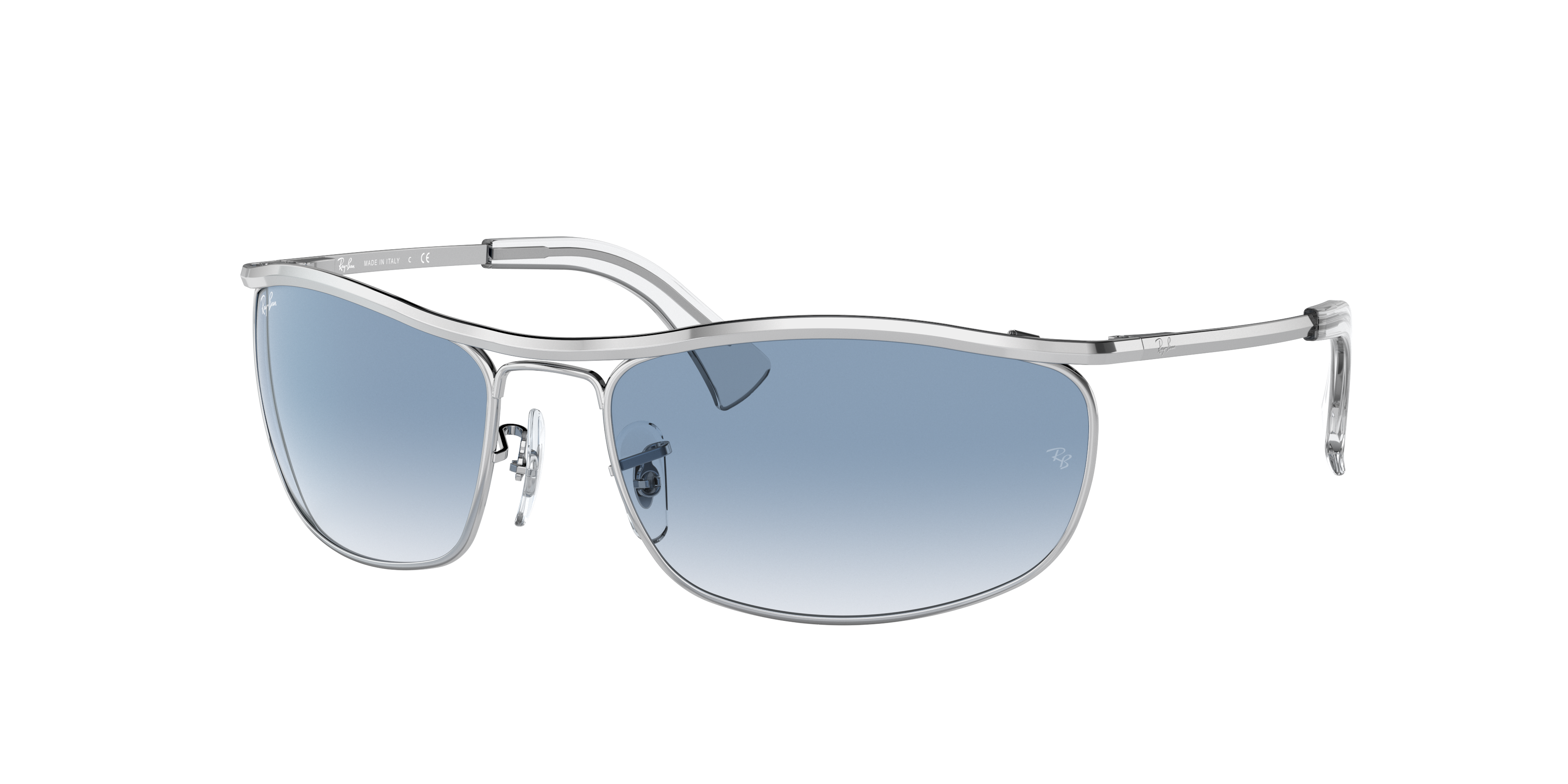 Ray-Ban Olympian Silver, Blue Lenses - RB3119