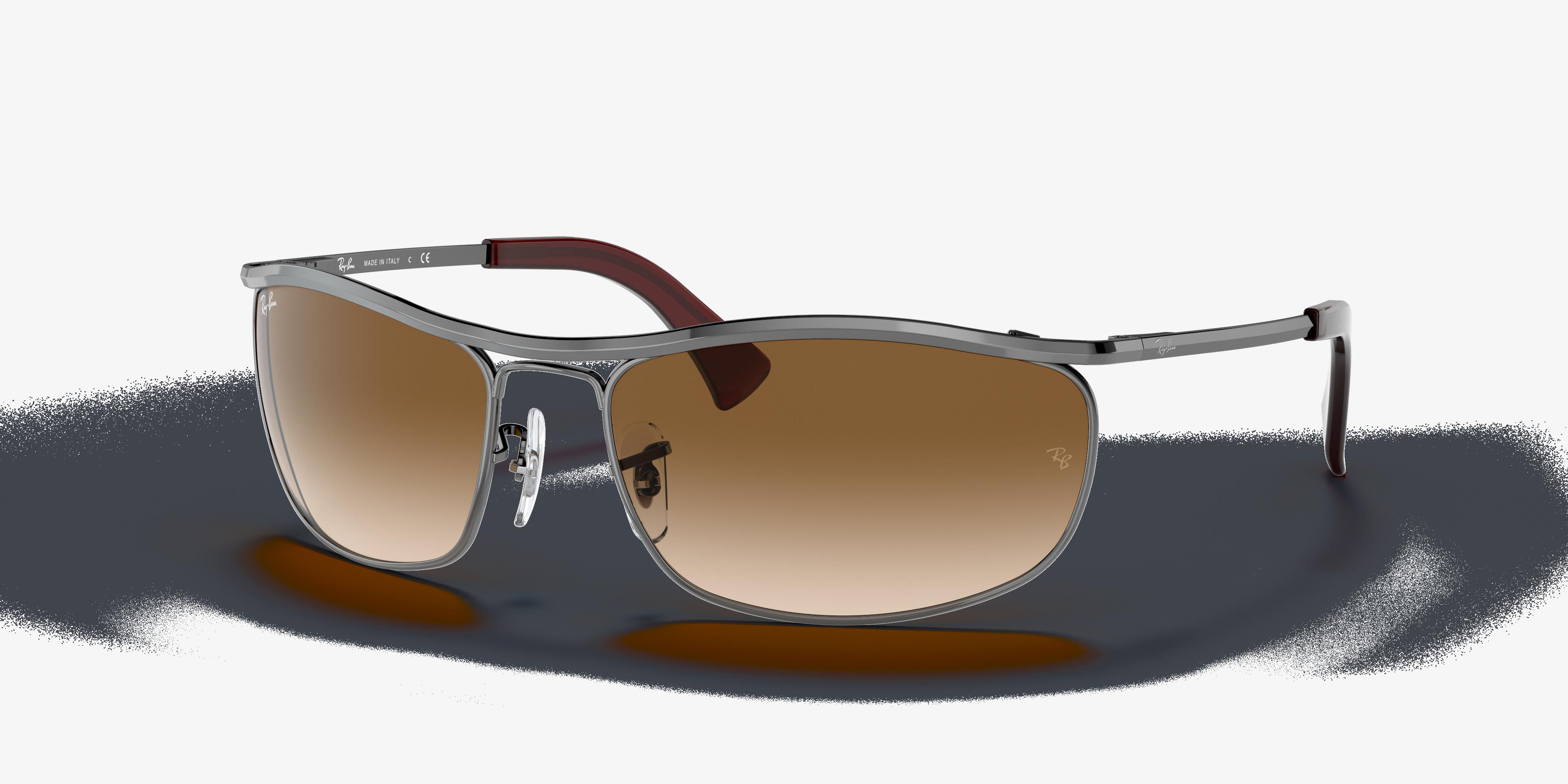 Ray-Ban Olympian Gunmetal, Brown Lenses - RB3119