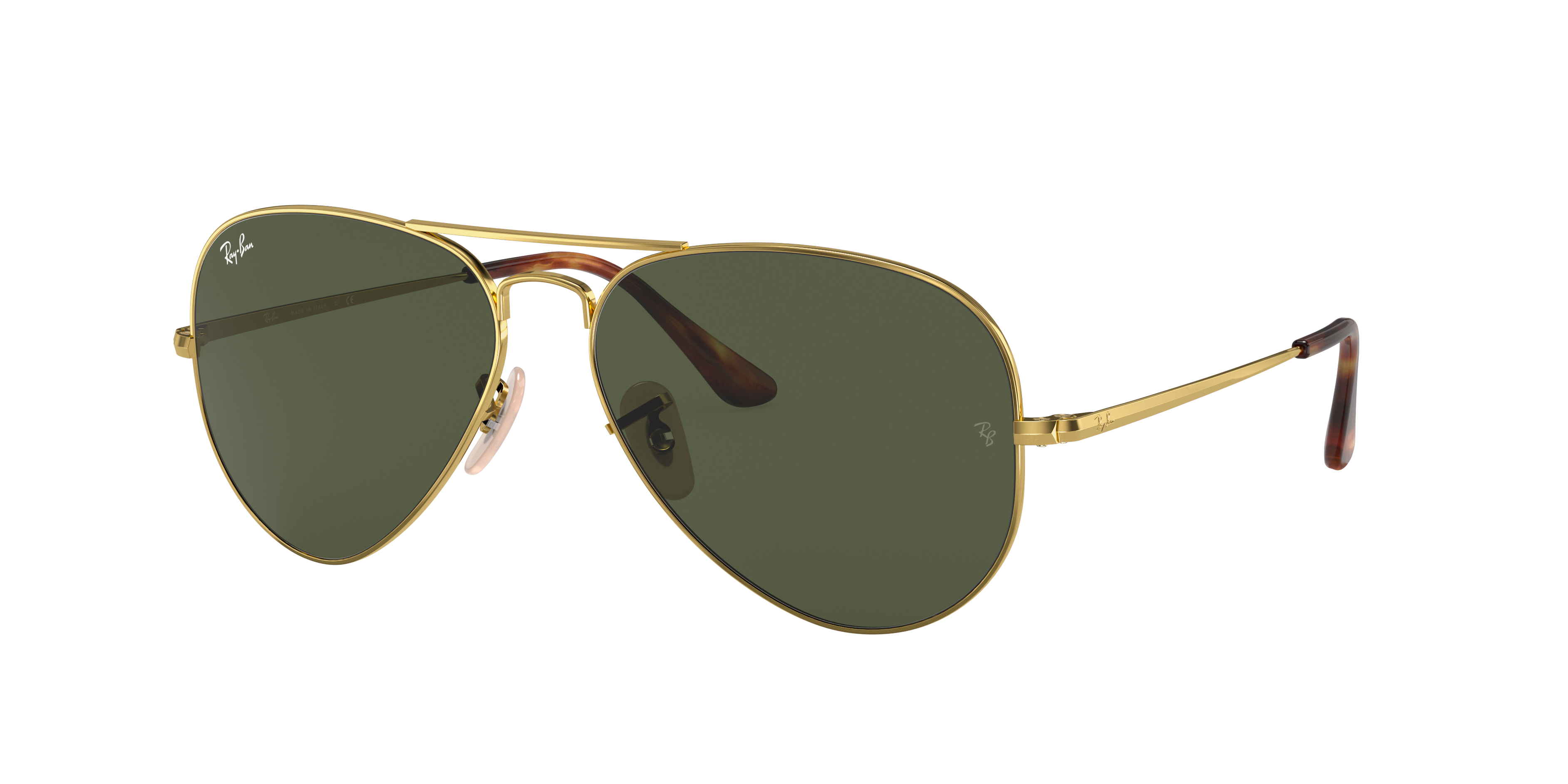 Ray-Ban Rb3689 Gold, Green Lenses - RB3689