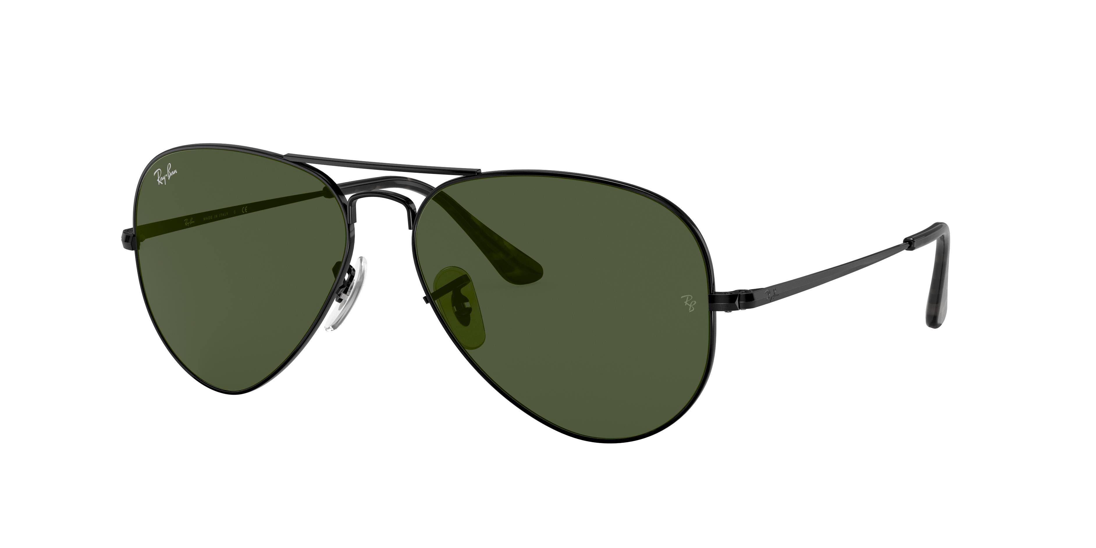 Ray-Ban Rb3689 Black, Green Lenses - RB3689