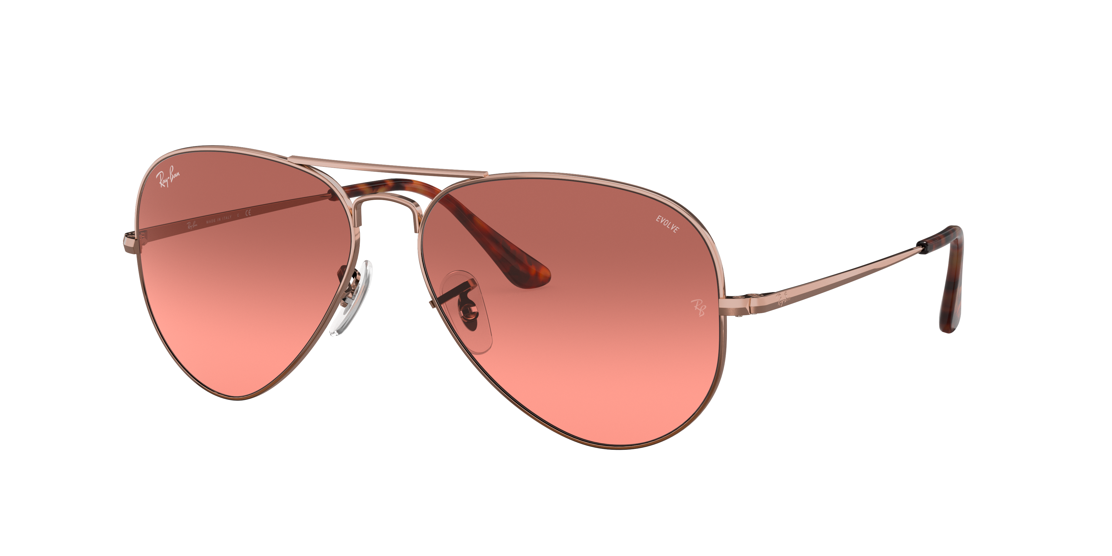 Ray-Ban Rb3689 Washed Evolve Bronze-Copper, Red Lenses - RB3689