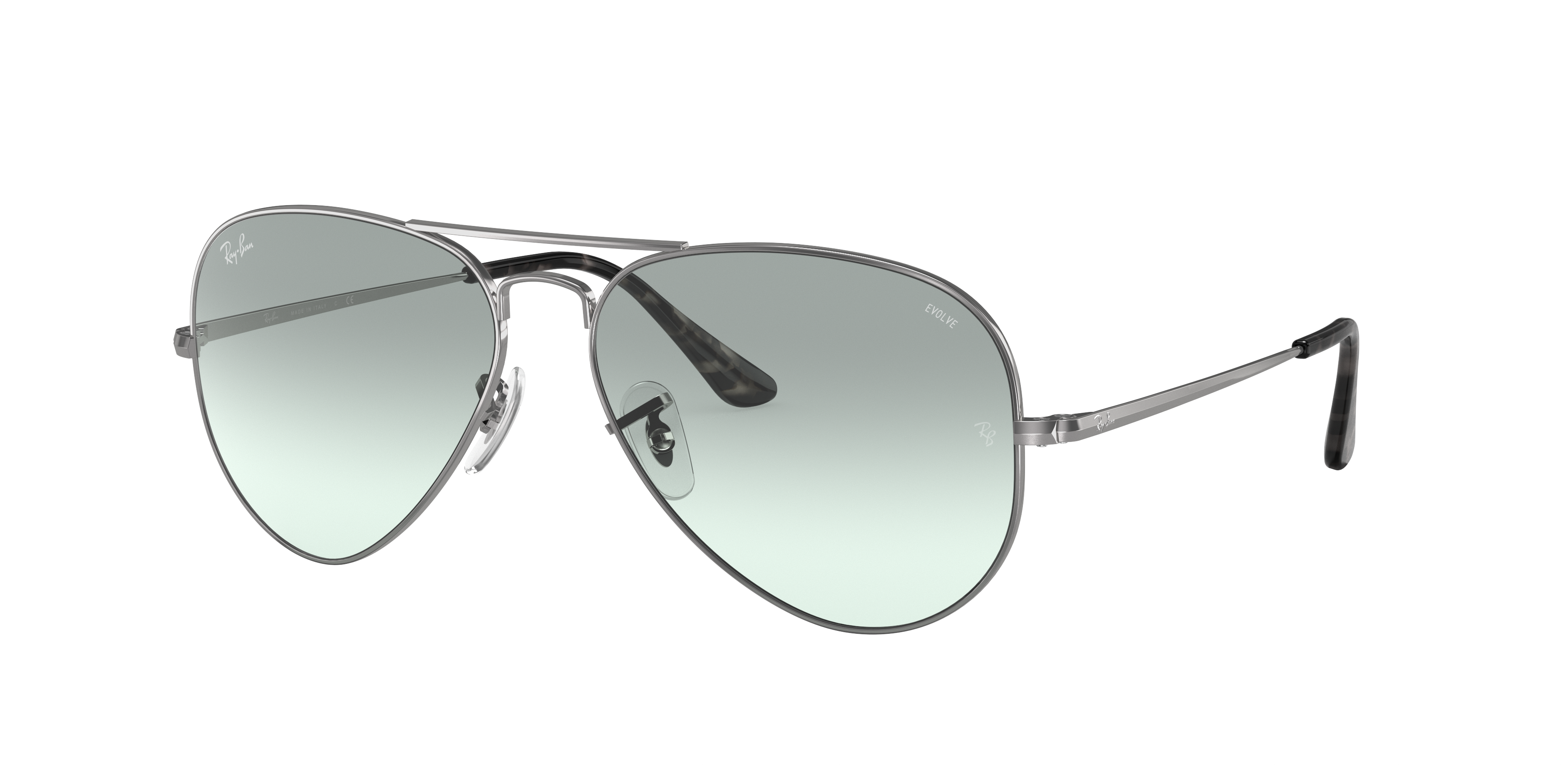 Ray-Ban Rb3689 Washed Evolve Silver, Blue Lenses - RB3689