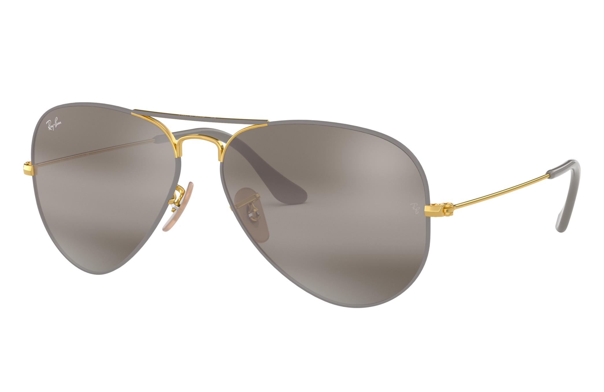 Ray-Ban Aviator Mirror Gold, Grey Lenses - RB3025