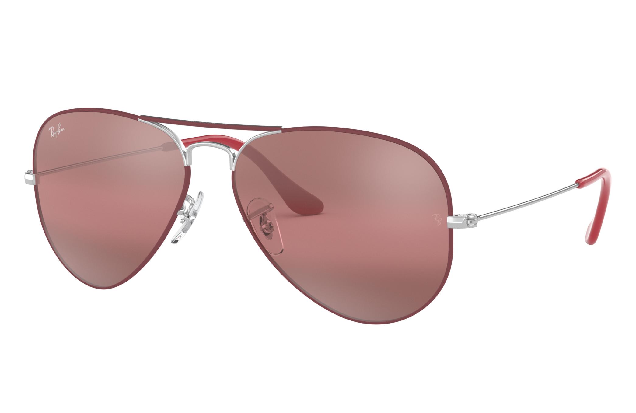 Ray-Ban Aviator Mirror Silver, Violet Lenses - RB3025