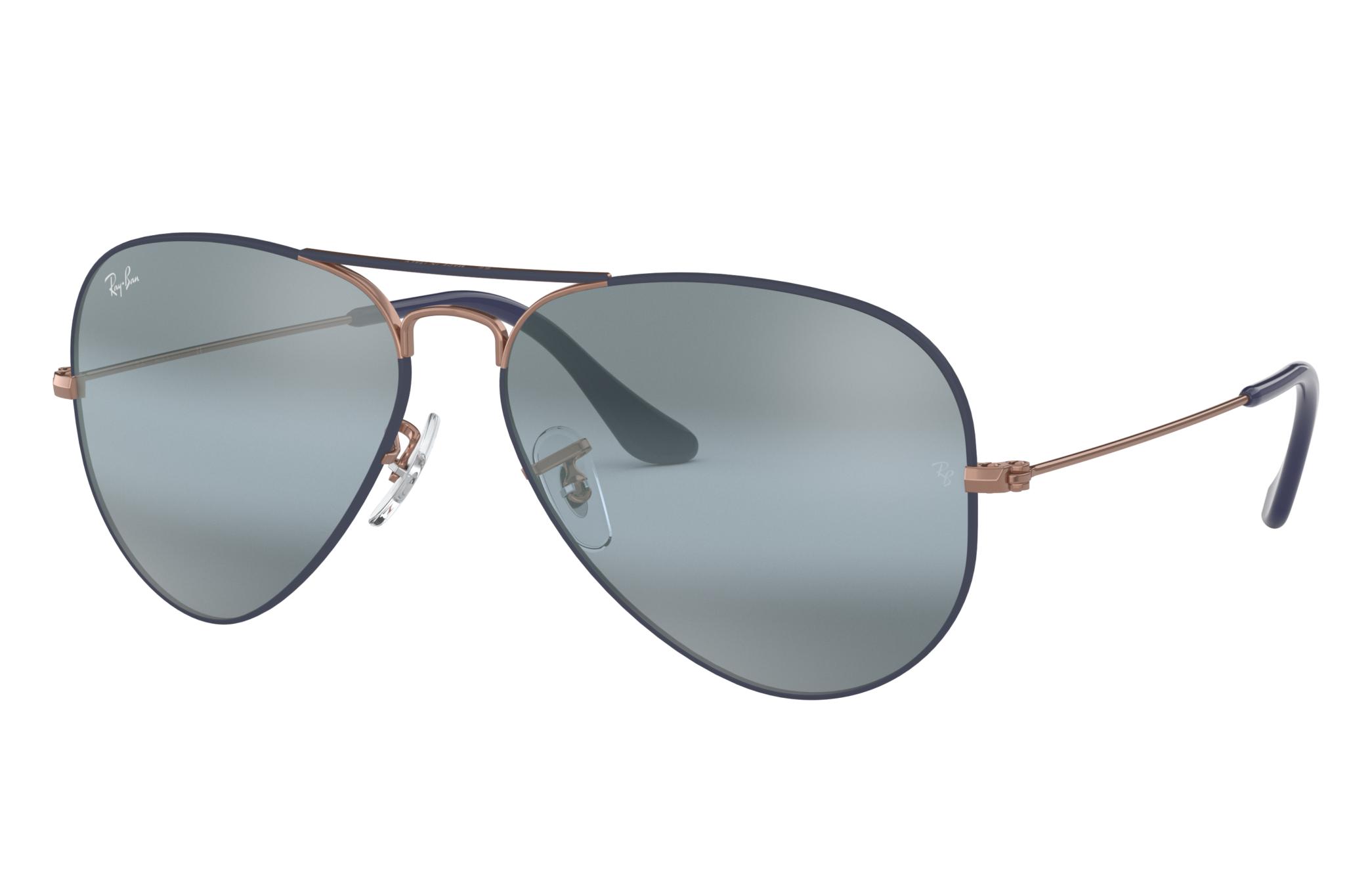 Ray-Ban Aviator Mirror Bronze-Copper, Blue Lenses - RB3025