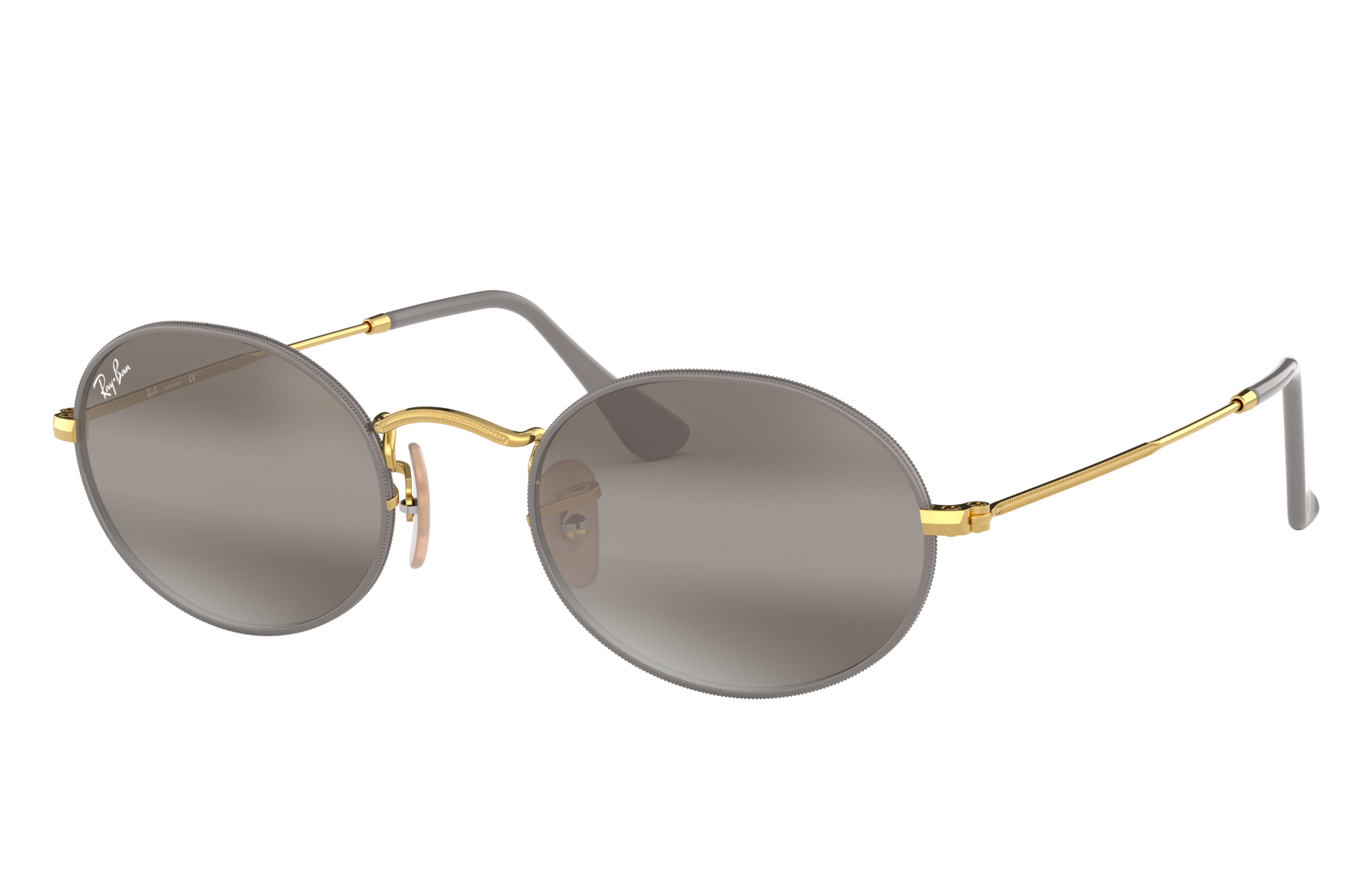 Ray-Ban Oval Gold, Grey Lenses - RB3547
